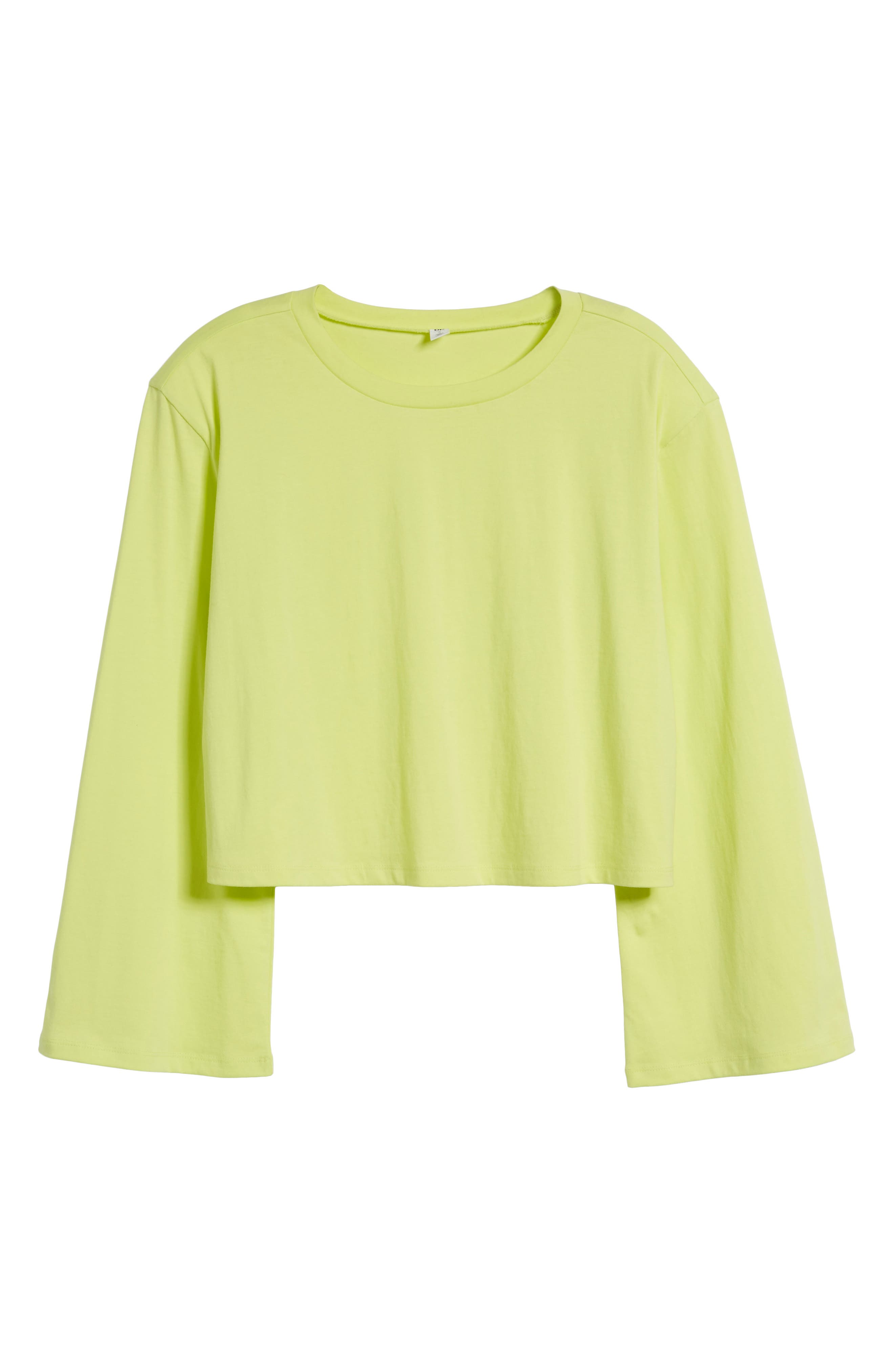Shoulder Pad Tee,                             Alternate thumbnail 6, color,                             Green Obi