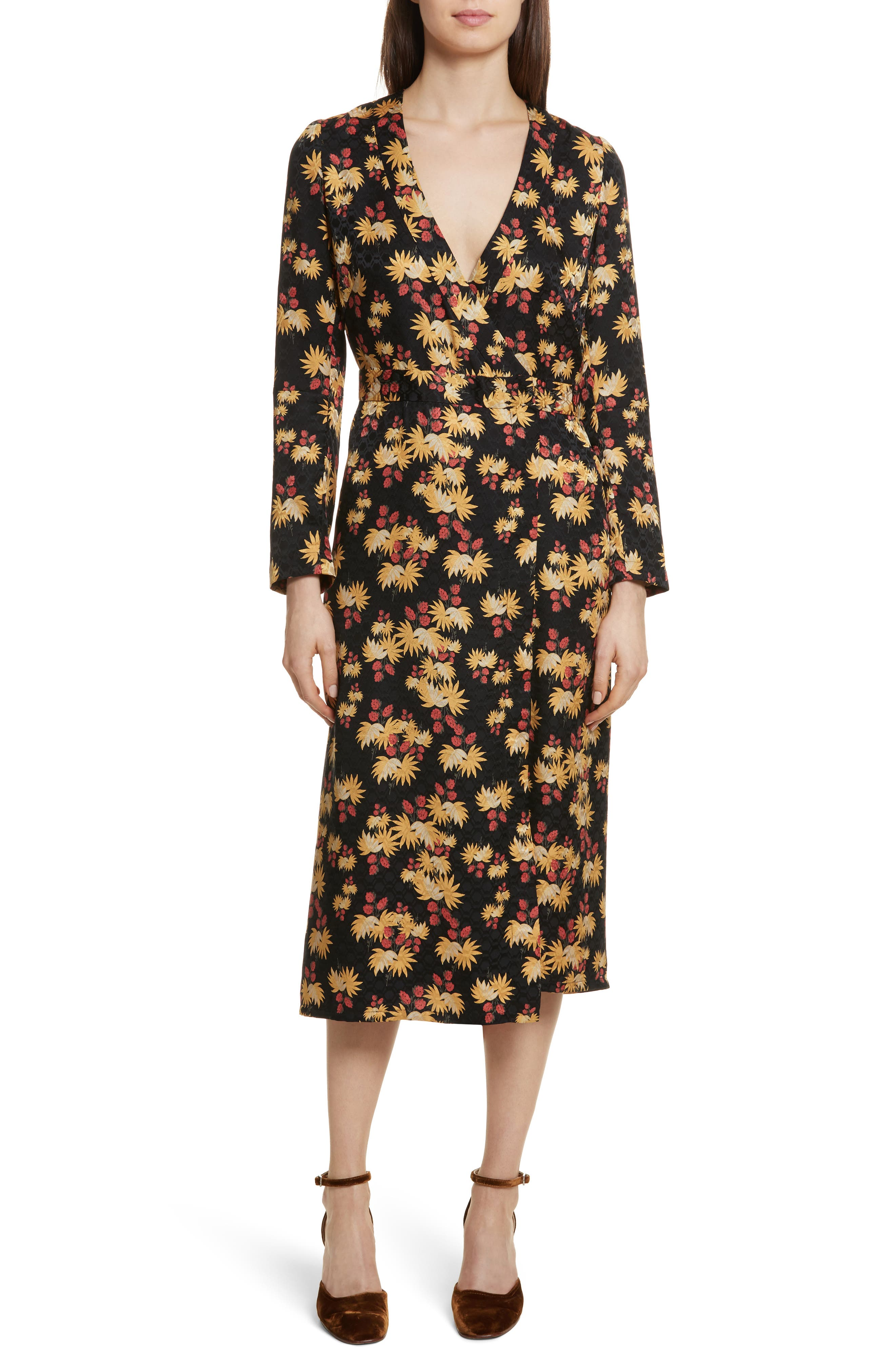 Uvalde Print Silk Jumpsuit,                         Main,                         color, Black Multi