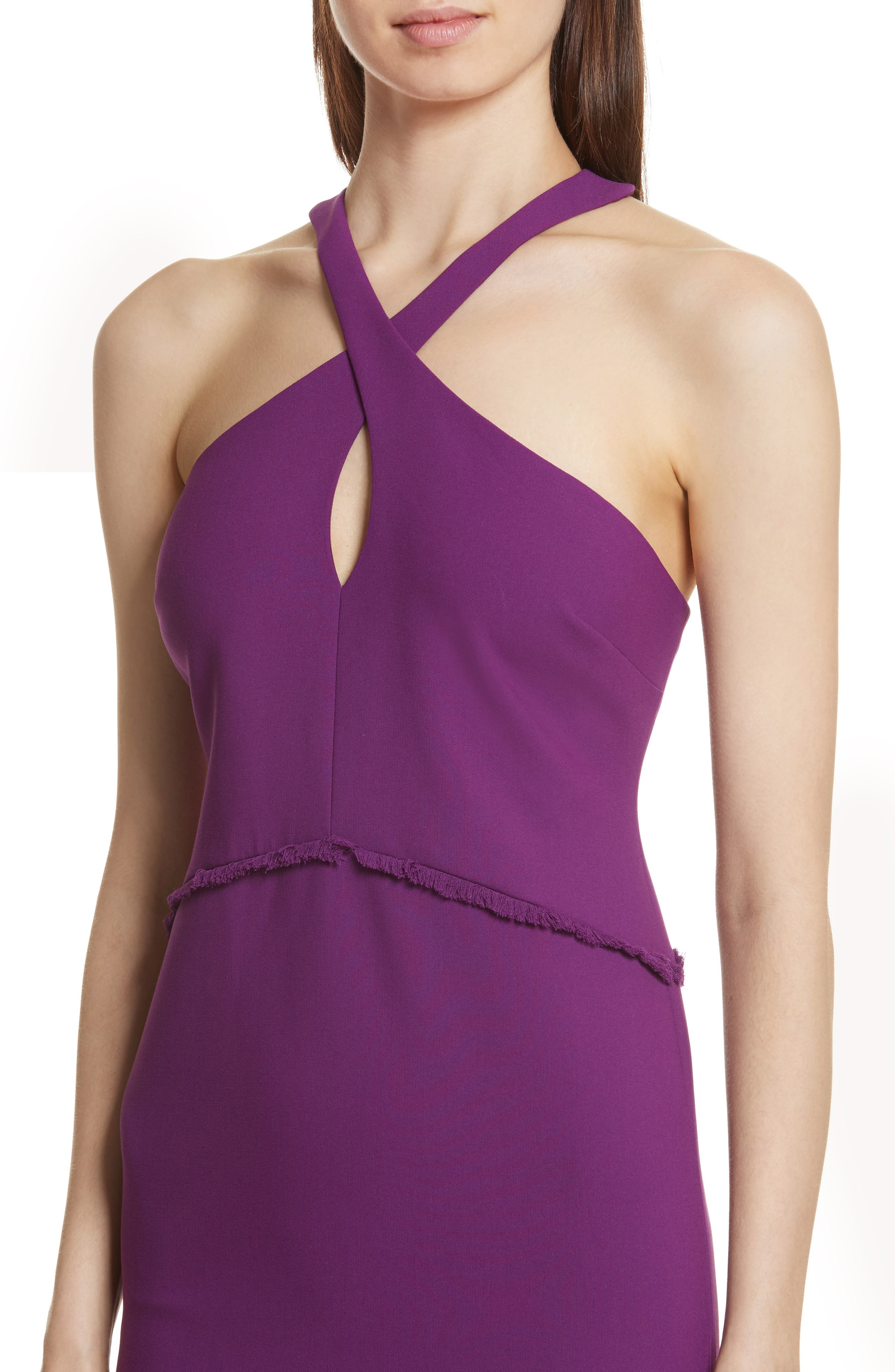 Dante Halter Dress,                             Alternate thumbnail 4, color,                             Amethyst