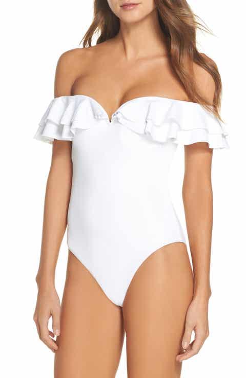 Becca Color Splash Off the Shoulder One-Piece Swimsuit