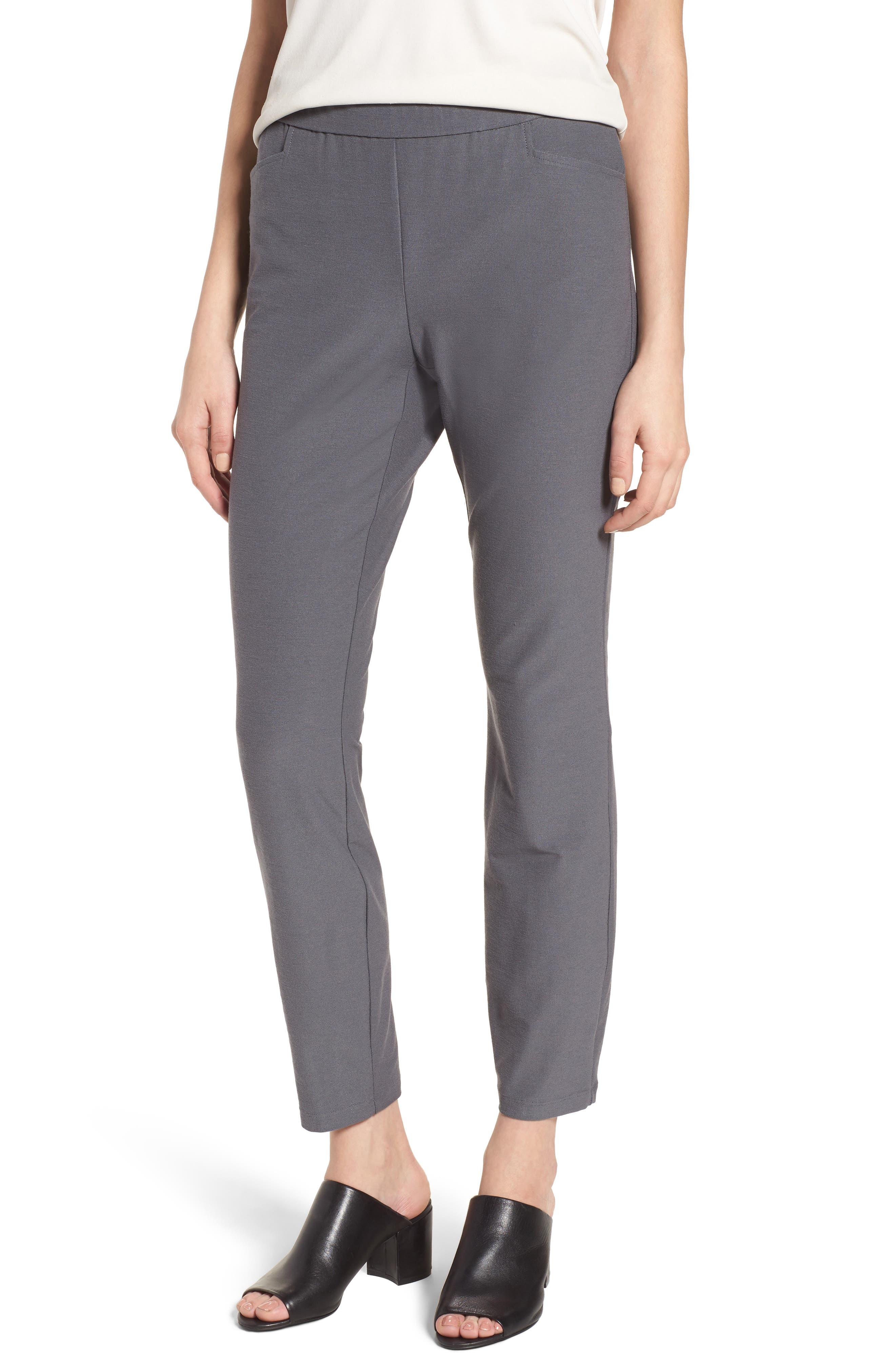 Main Image - Eileen Fisher Slim Knit Pants (Regular & Petite)
