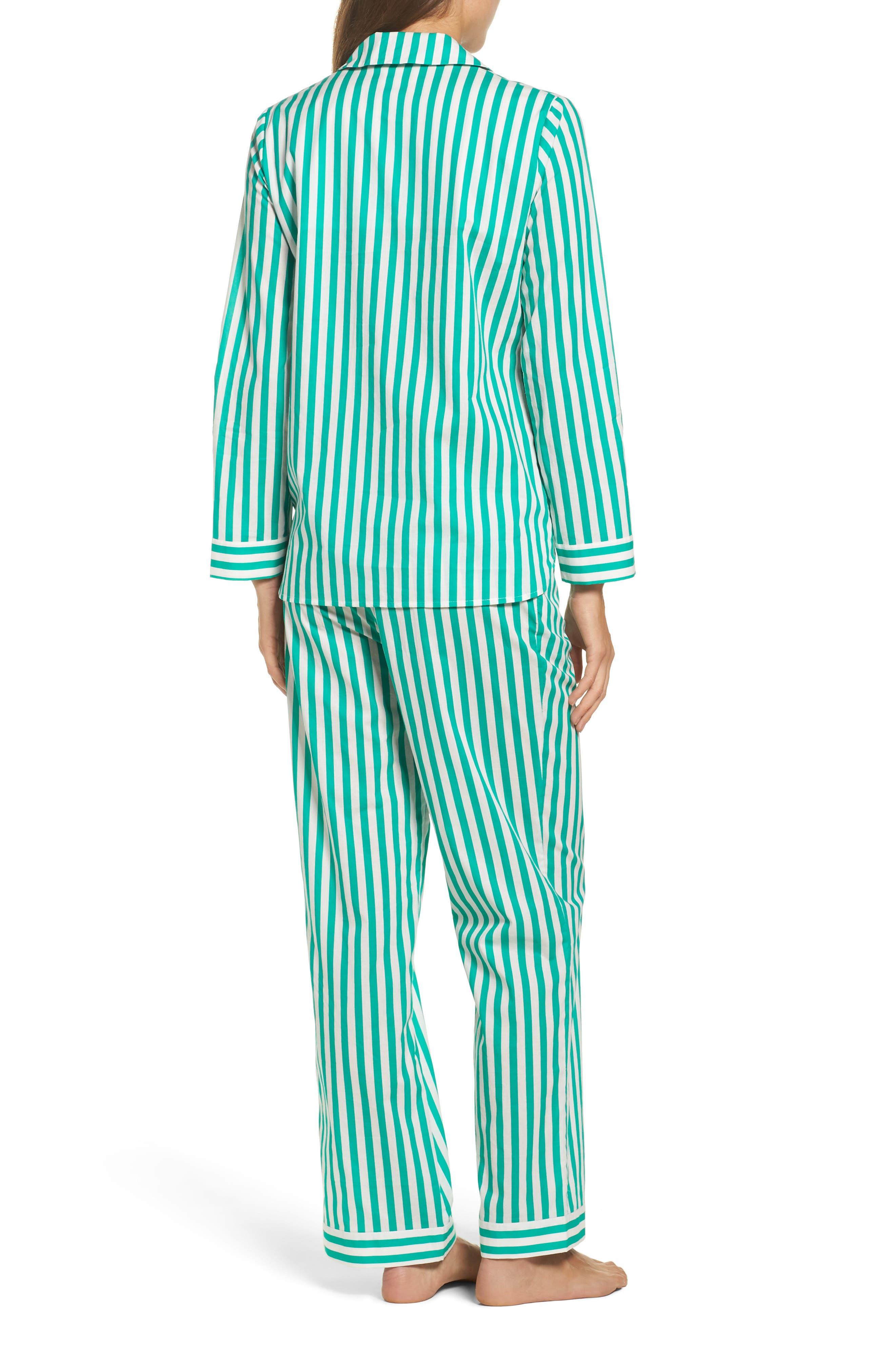 Alternate Image 2  - Yolke Classic Stripe Cotton Pajamas