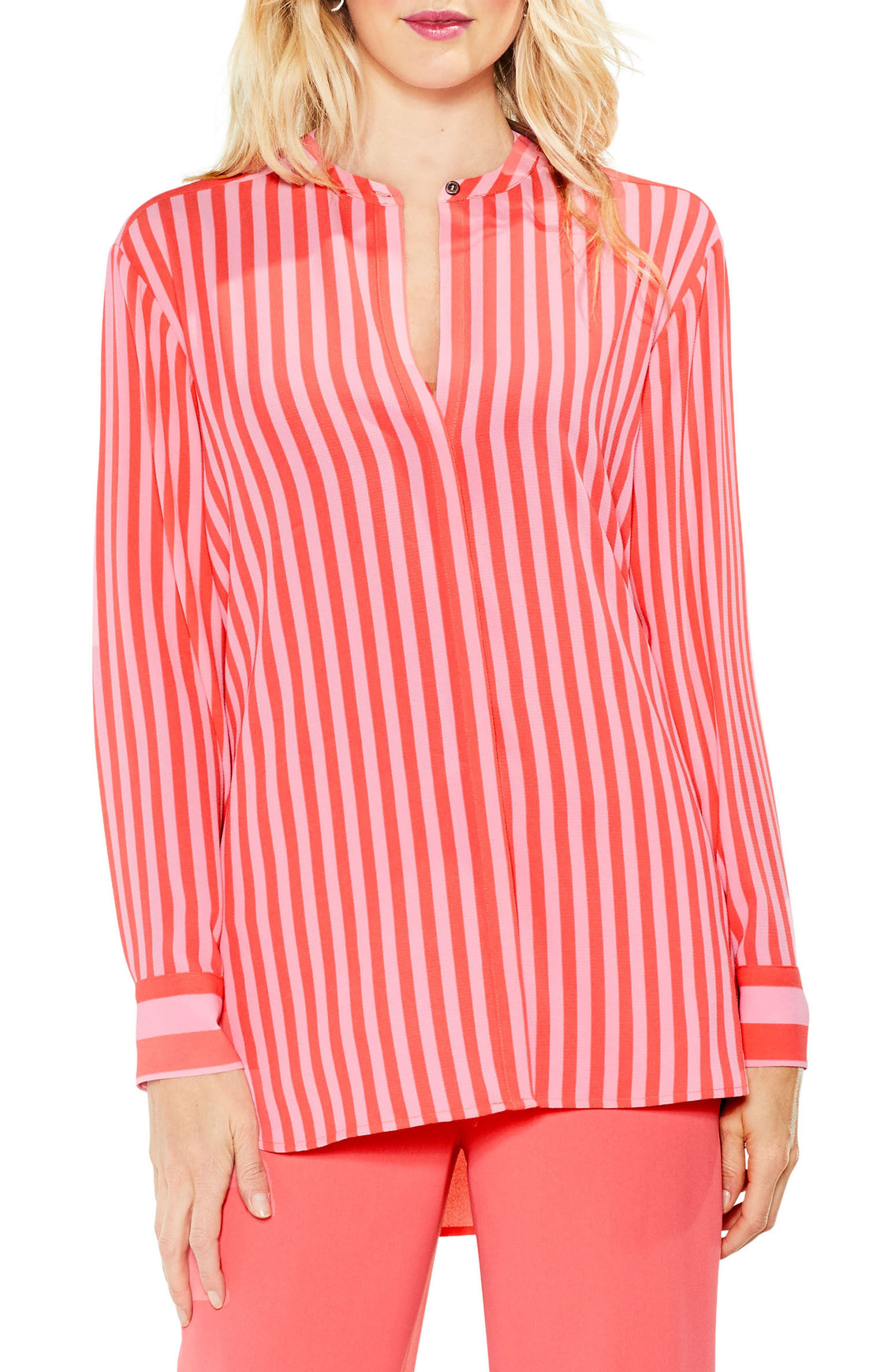Alternate Image 1 Selected - Vince Camuto Debut Mix Stripe Tunic