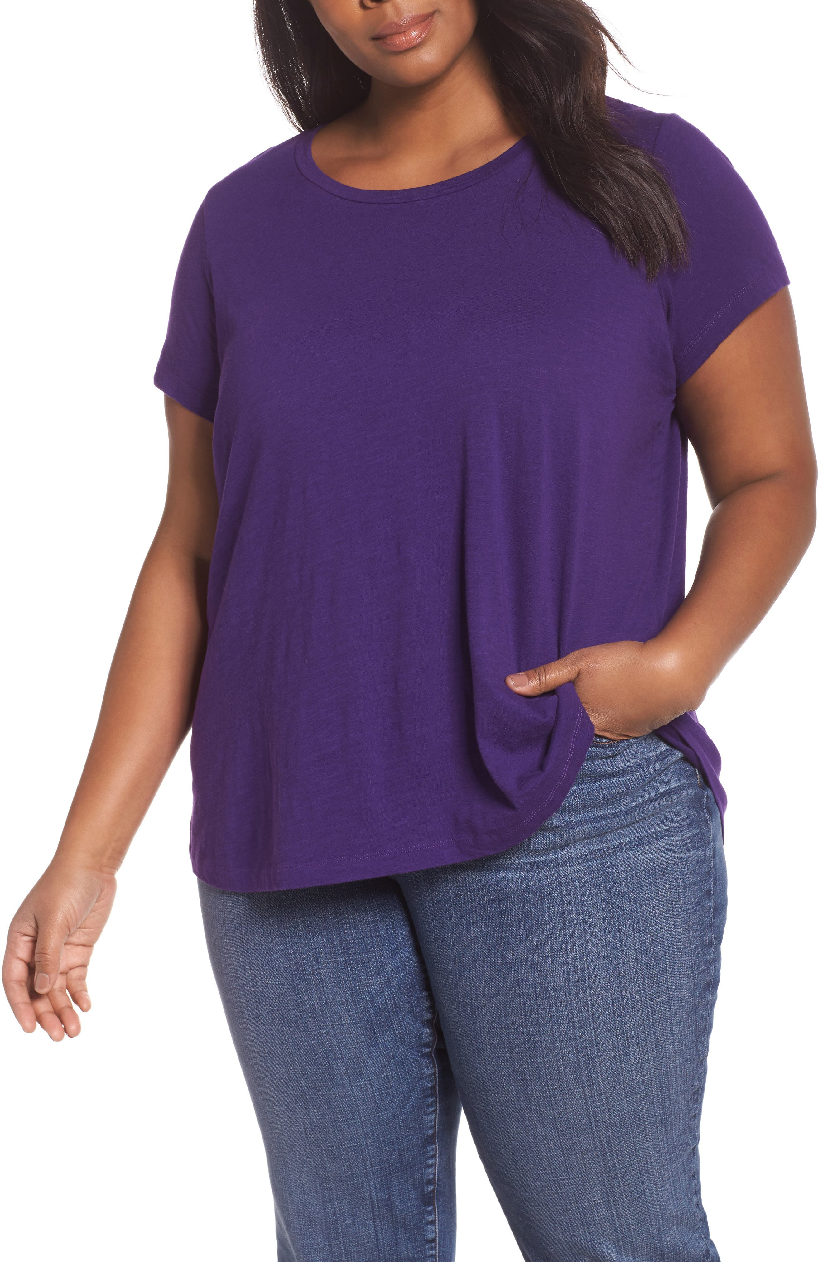Eileen Fisher Organic Cotton Tee (Plus Size)