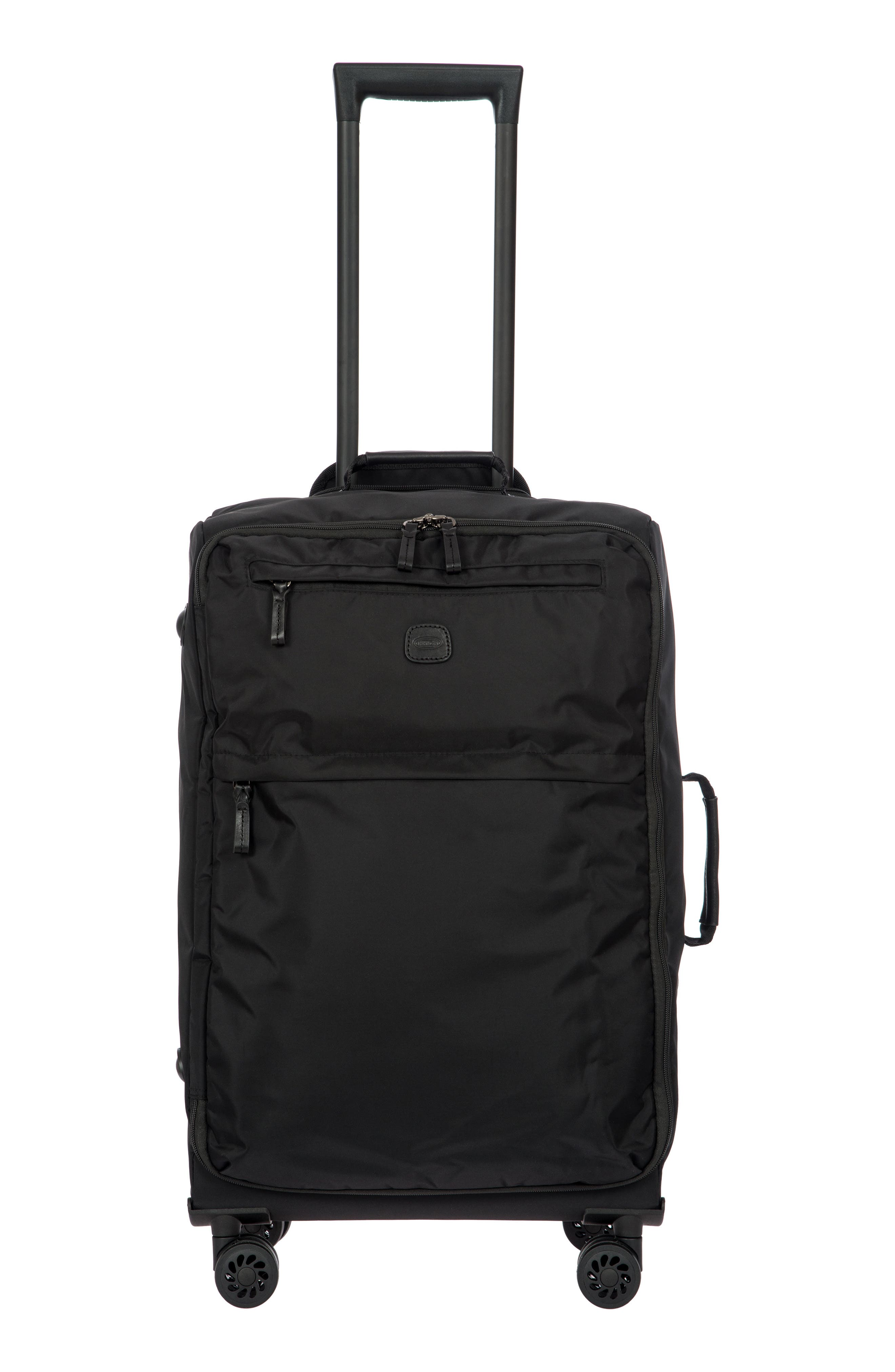 X-Bag 25-Inch Spinner Suitcase,                             Alternate thumbnail 8, color,                             Black/ Black