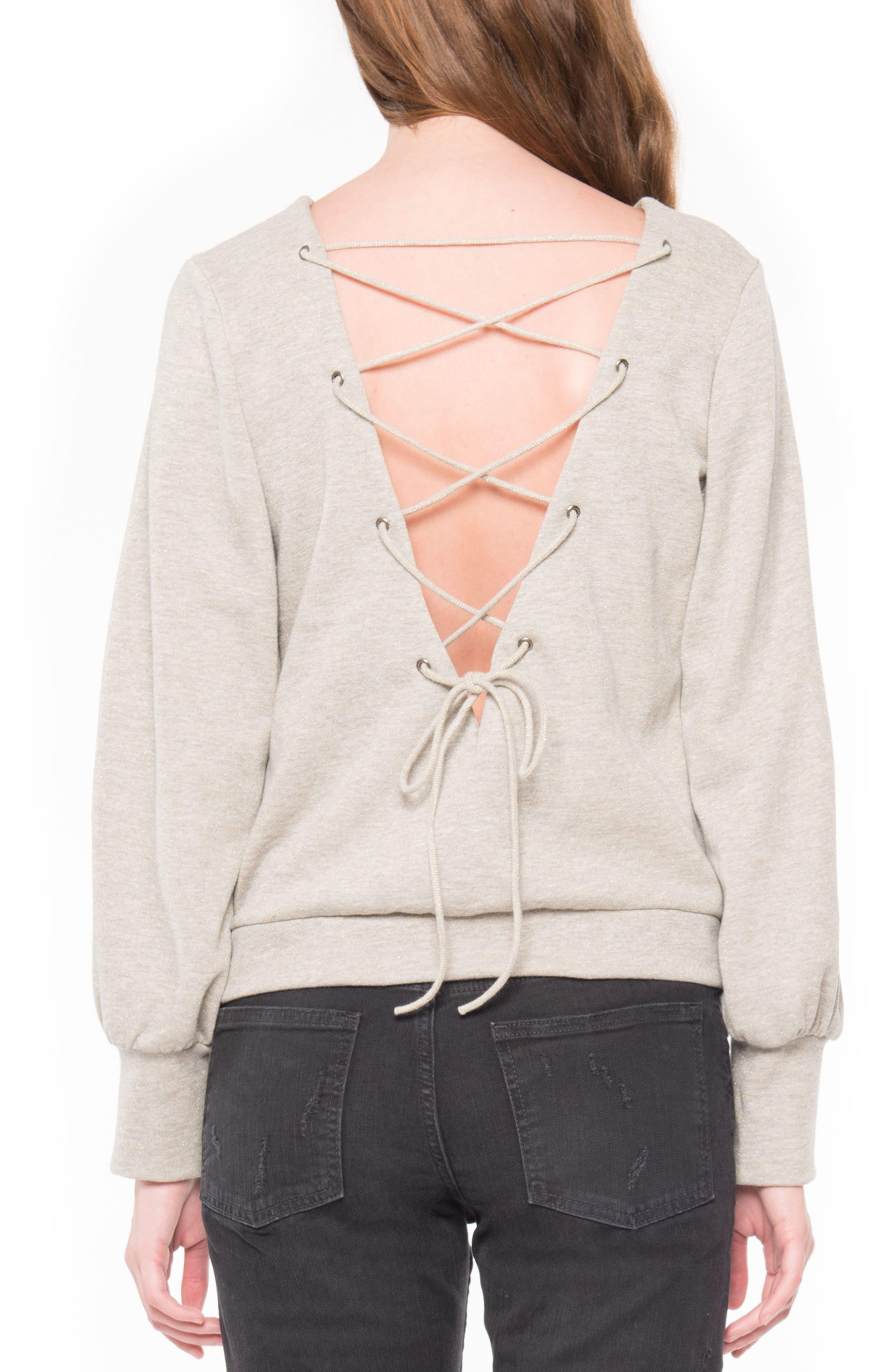 Alternate Image 2  - Willow & Clay Tie Back Sweatshirt