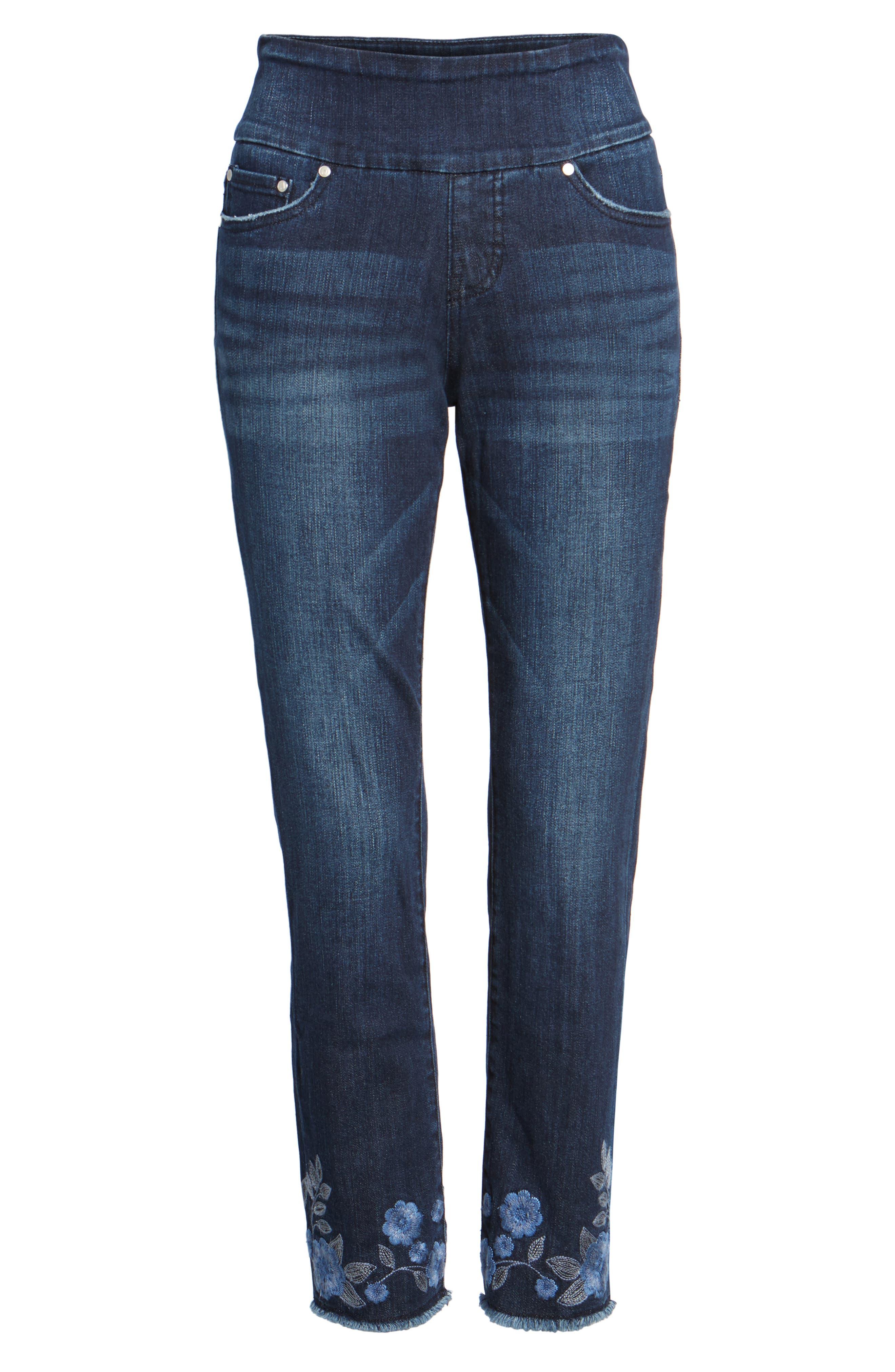 Alternate Image 6  - Jag Jeans Amelia Embroidered Slim Ankle Jeans (Meteor)