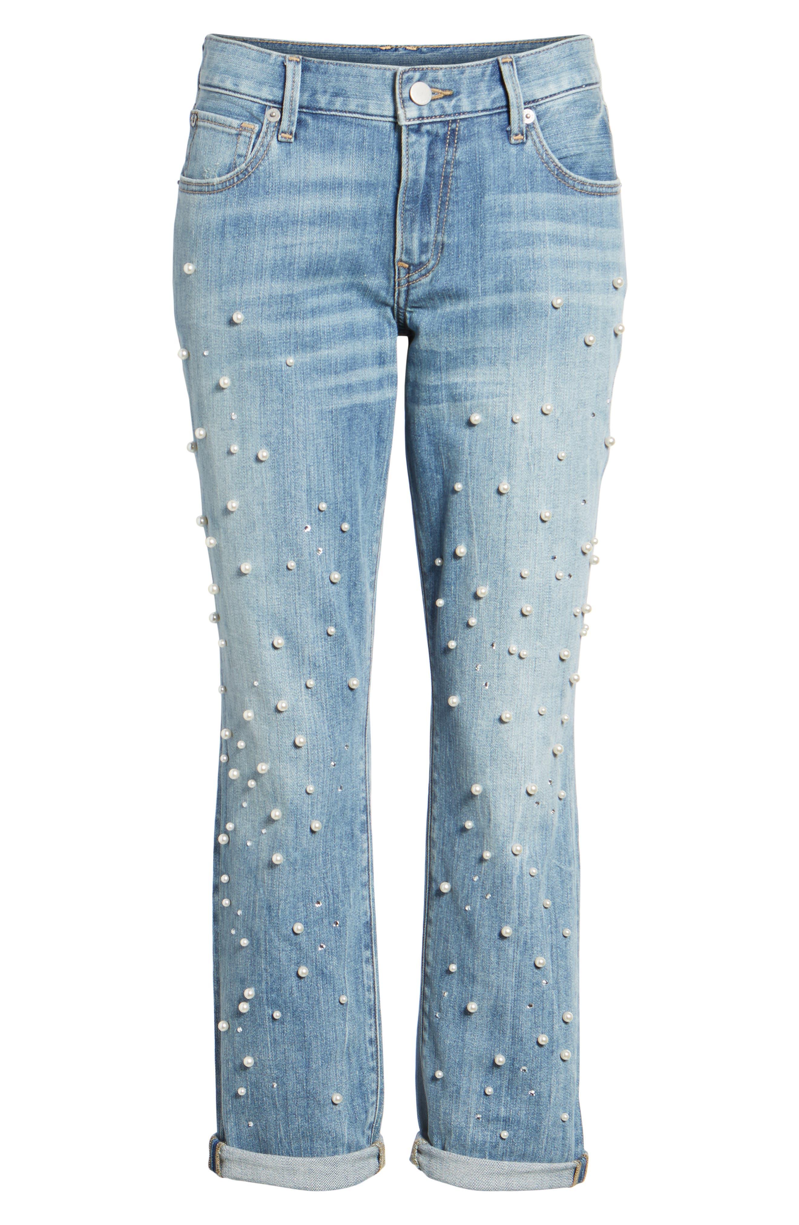 Cameron Slim Boyfriend Jeans,                             Alternate thumbnail 6, color,                             Slip Away