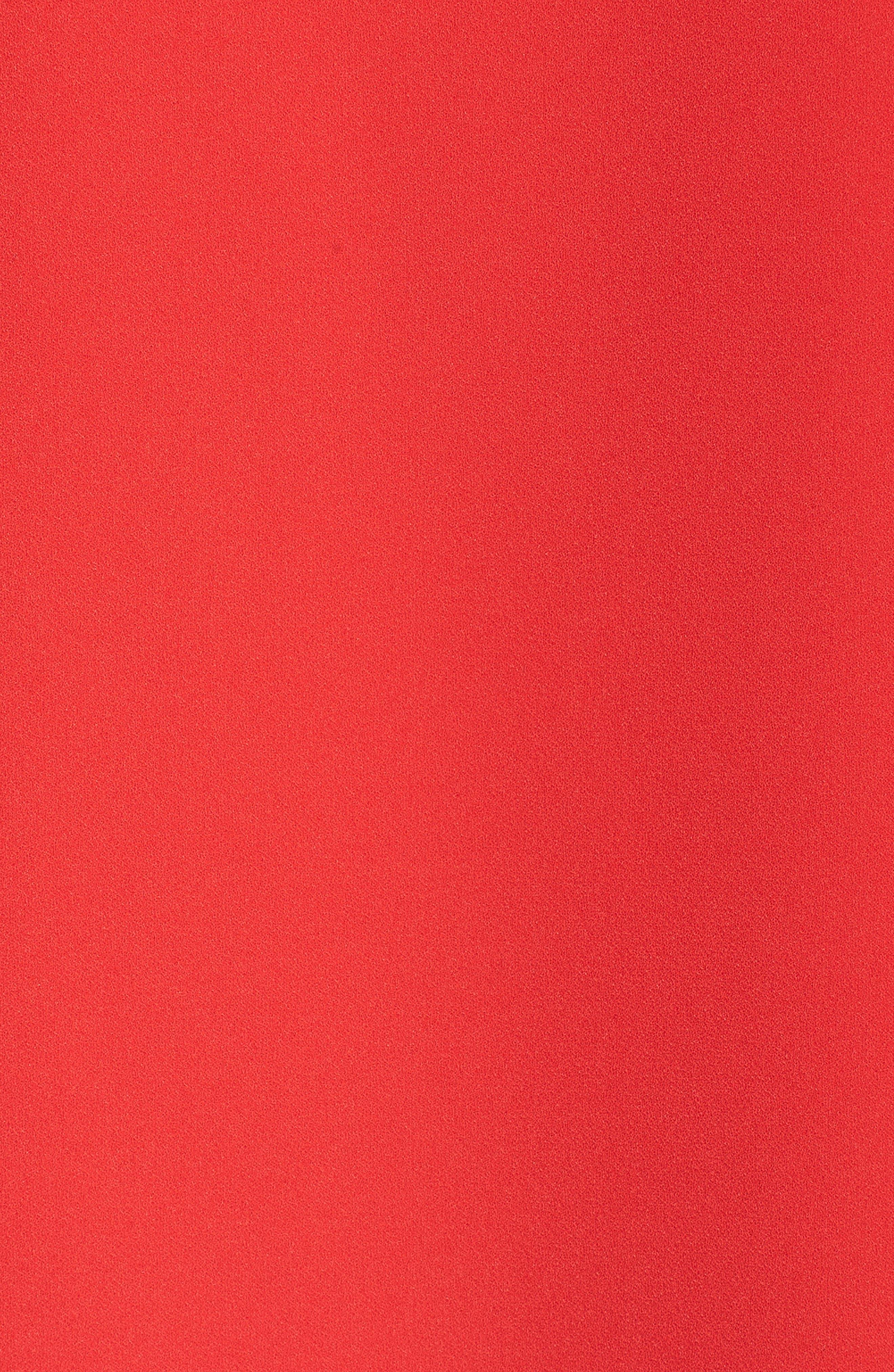 Split Tie Sleeve Shift Dress,                             Alternate thumbnail 5, color,                             Fiesta Pink
