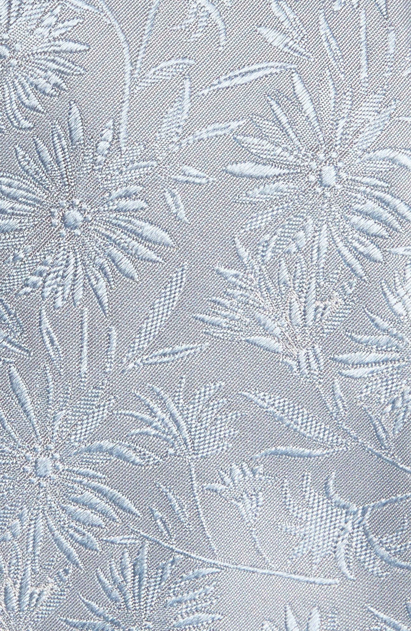 Tonal Floral Skinny Tie,                             Alternate thumbnail 2, color,                             Light Blue