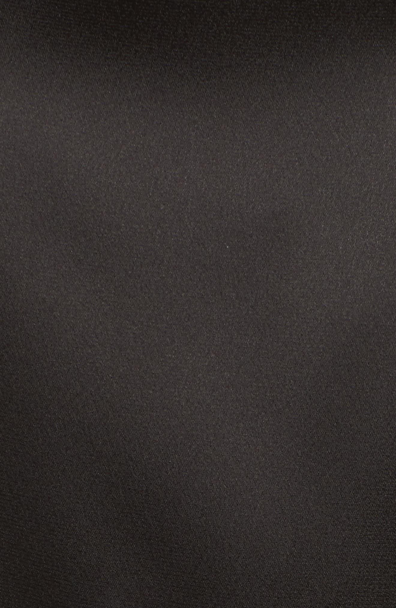 Drapena Faux Wrap Sheath Dress,                             Alternate thumbnail 5, color,                             Black