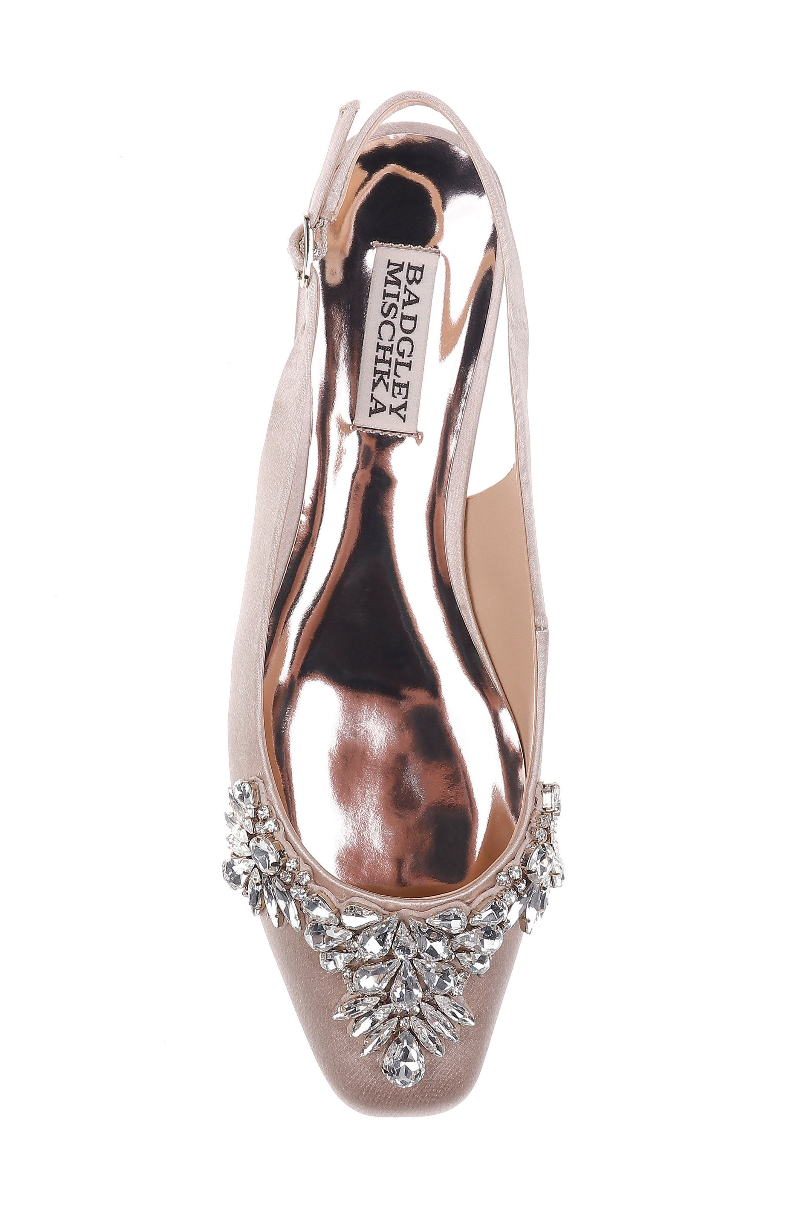 Alternate Image 5  - Badgley Mischka Shayla Slingback Flat (Women)