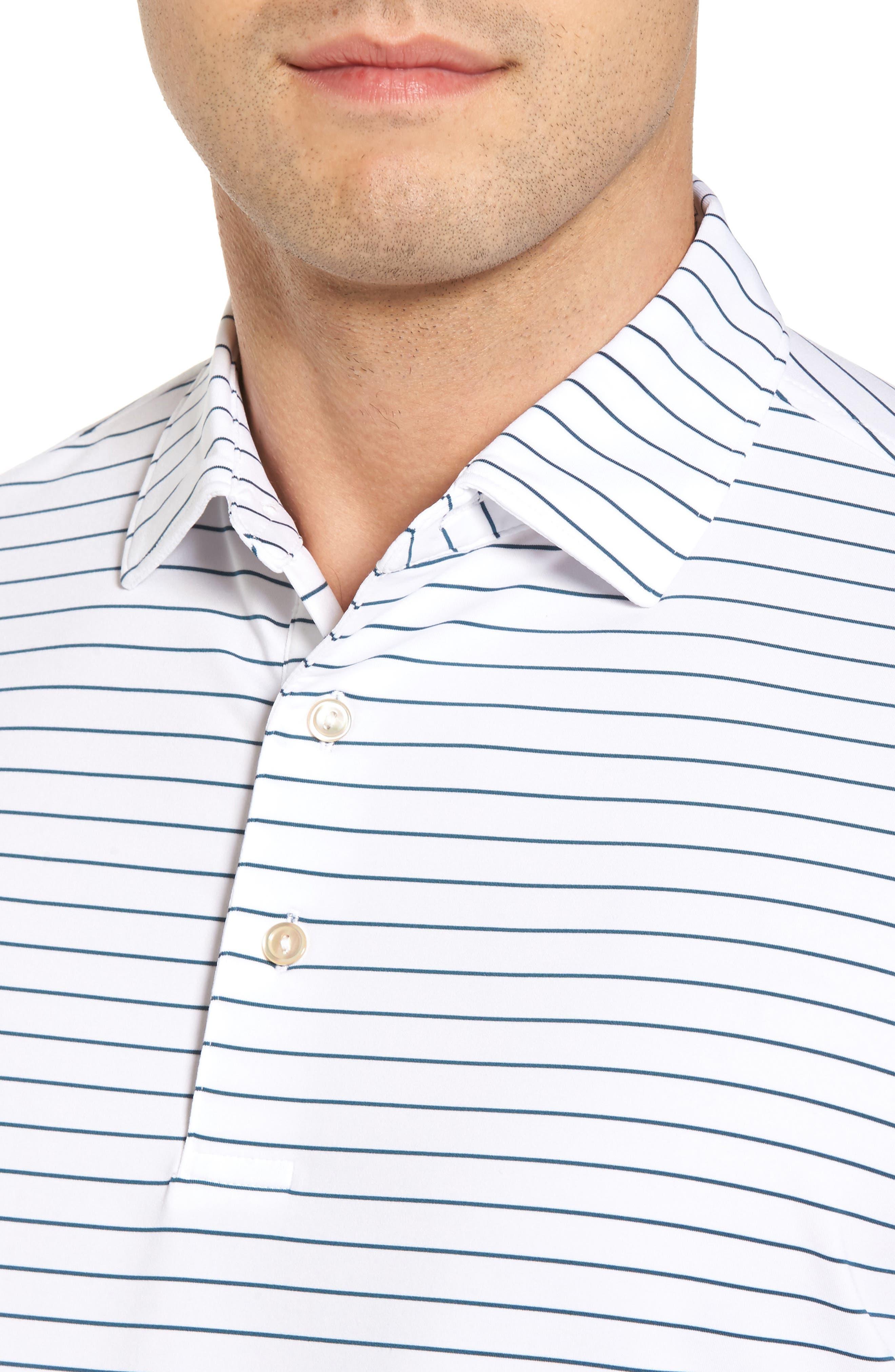 Alternate Image 4  - Peter Millar Halifax Pinstripe Stretch Jersey Polo