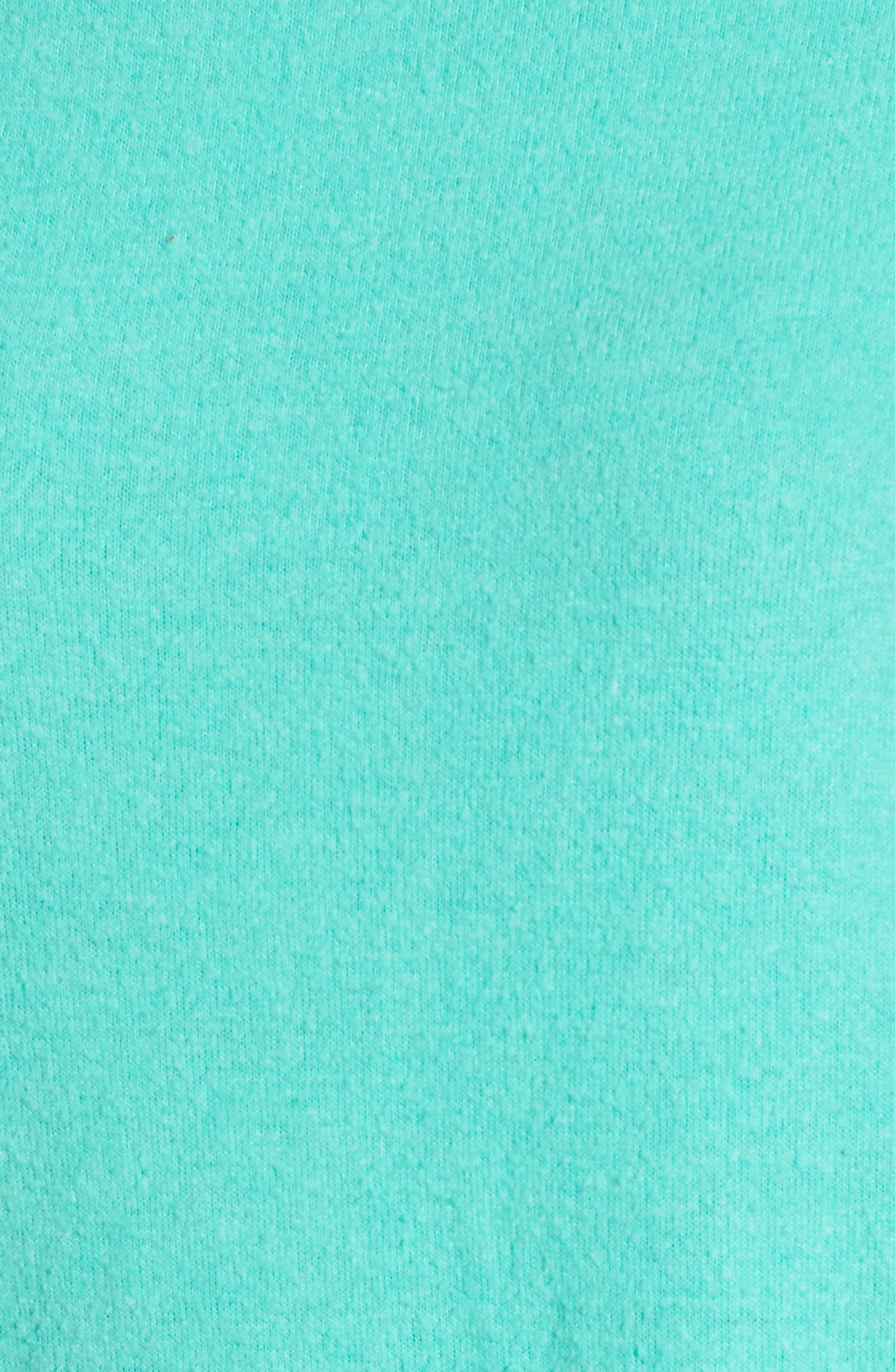Stripe Sweatshirt,                             Alternate thumbnail 5, color,                             Mint Chip