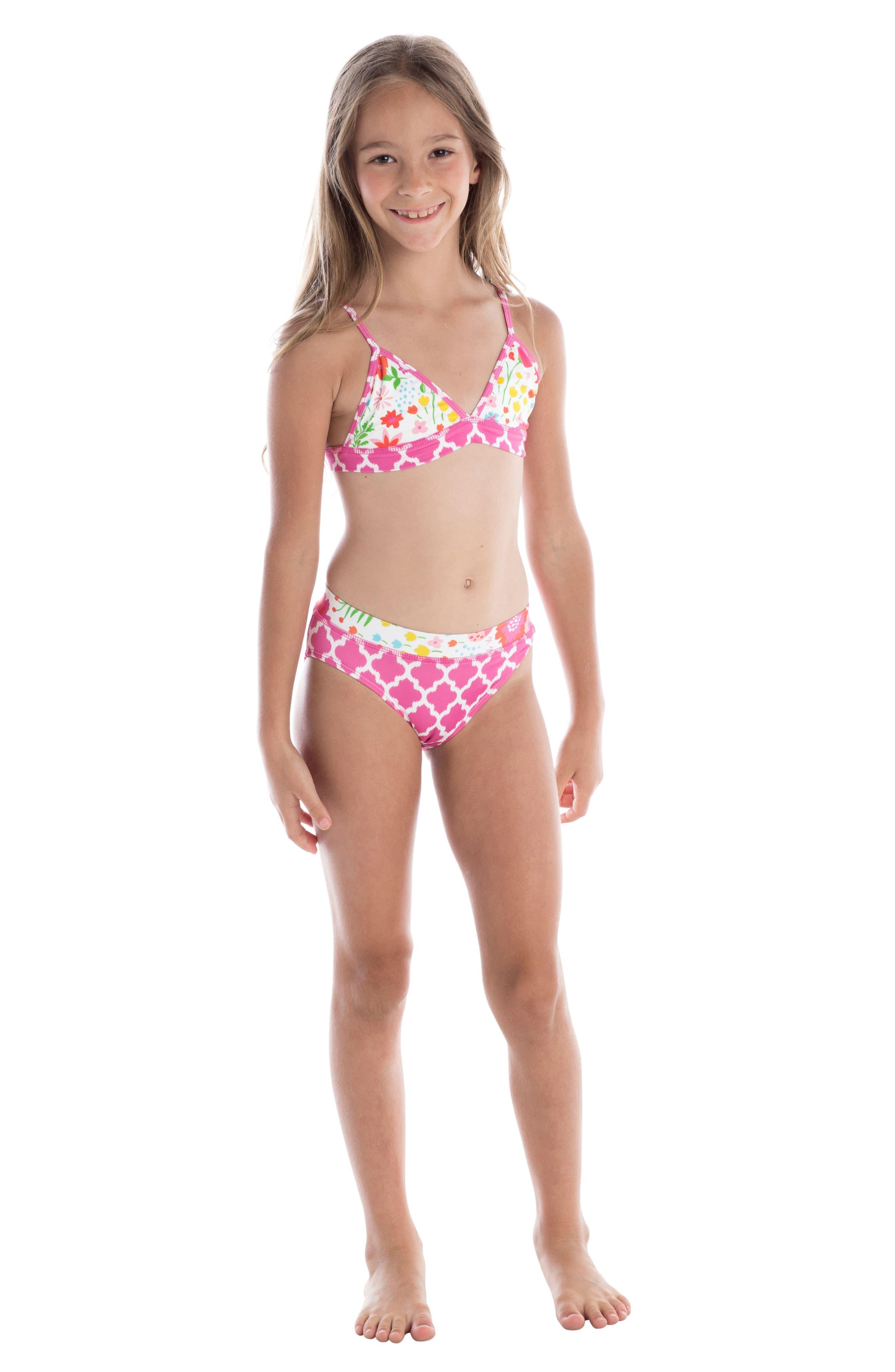 Alternate Image 3  - Masalababy English Garden Two-Piece Swimsuit (Toddler Girls)