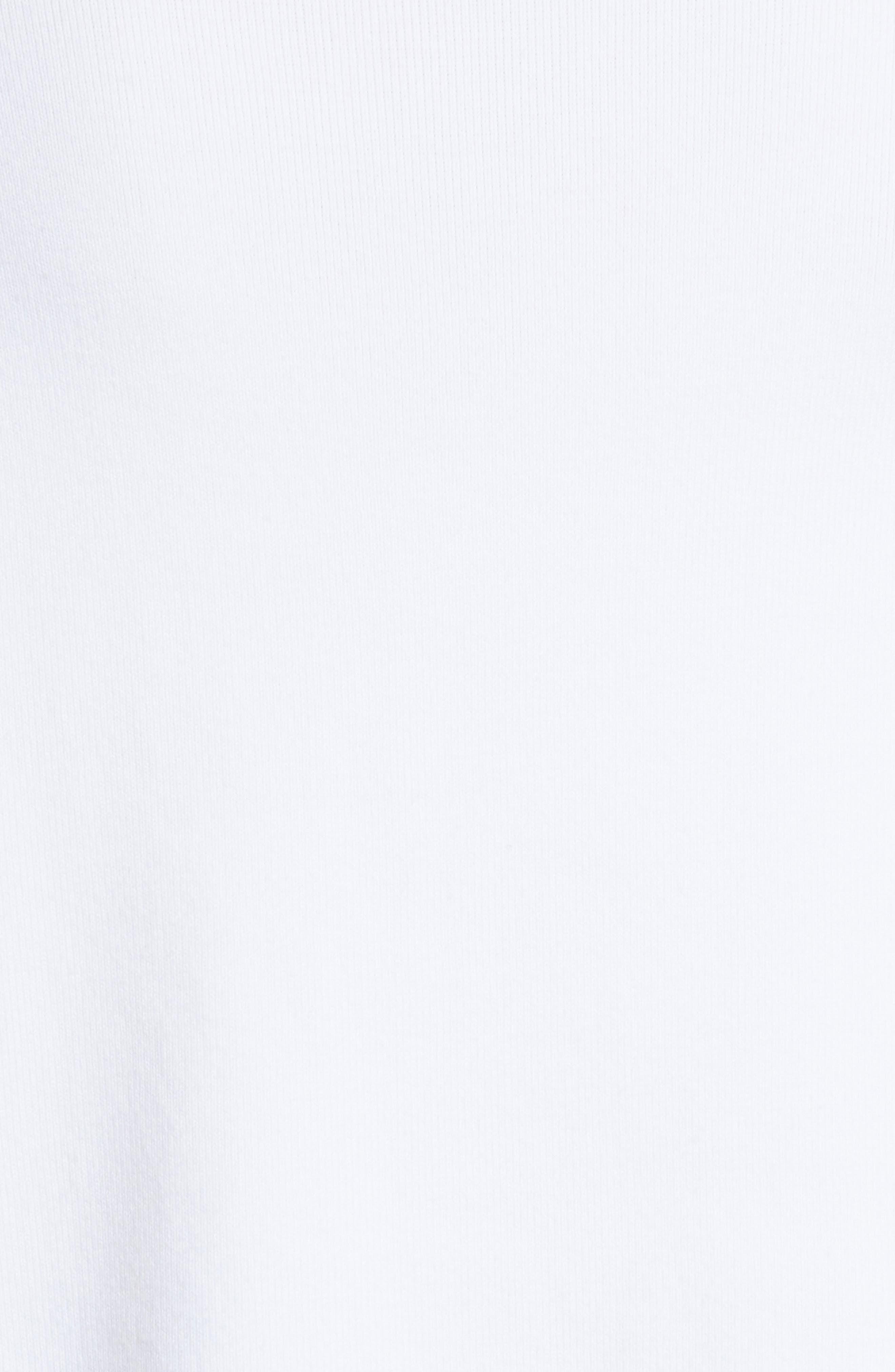 Ivan Ruffle Split Side Sweater,                             Alternate thumbnail 5, color,                             White