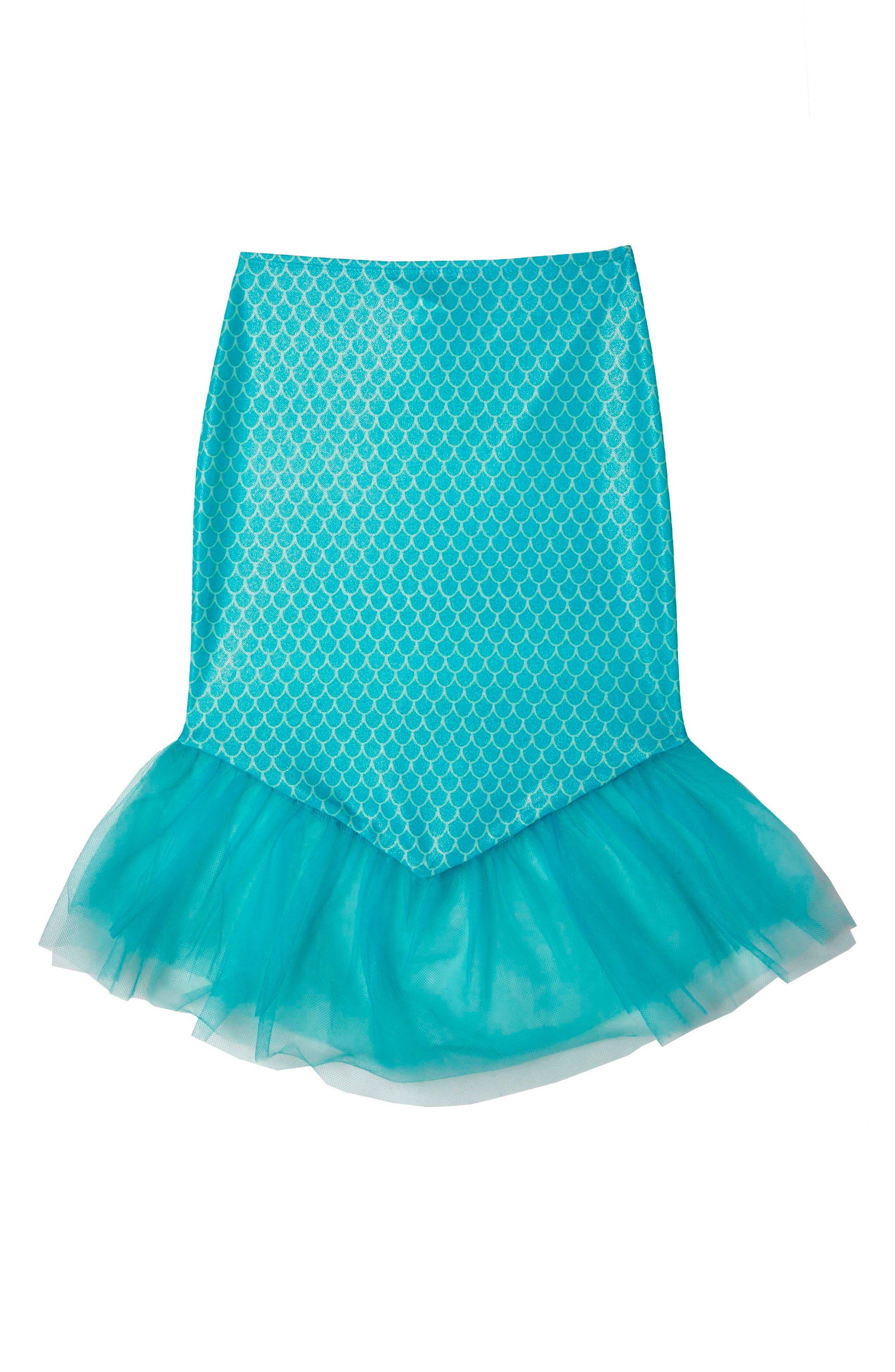 Mermaid Princess Cover-Up Skirt,                         Main,                         color, Aqua