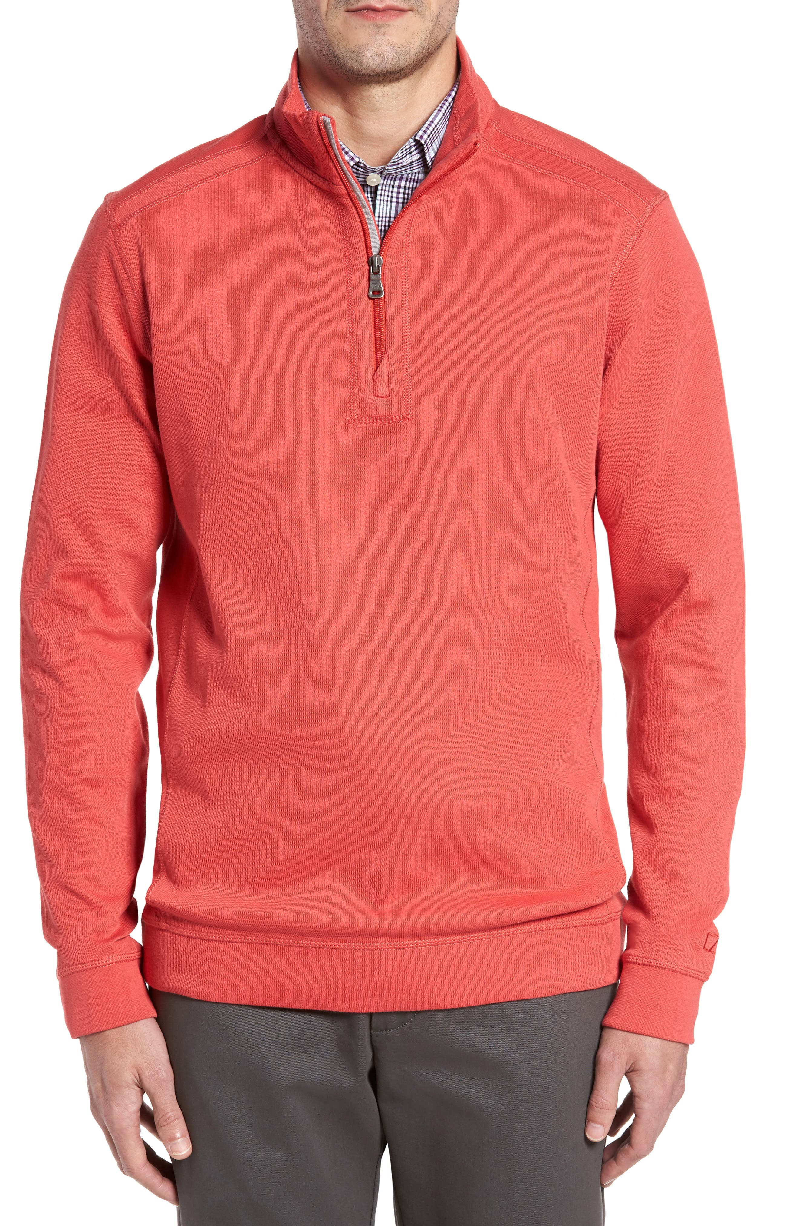 Alternate Image 1 Selected - Cutter & Buck Bayview Quarter Zip Pullover