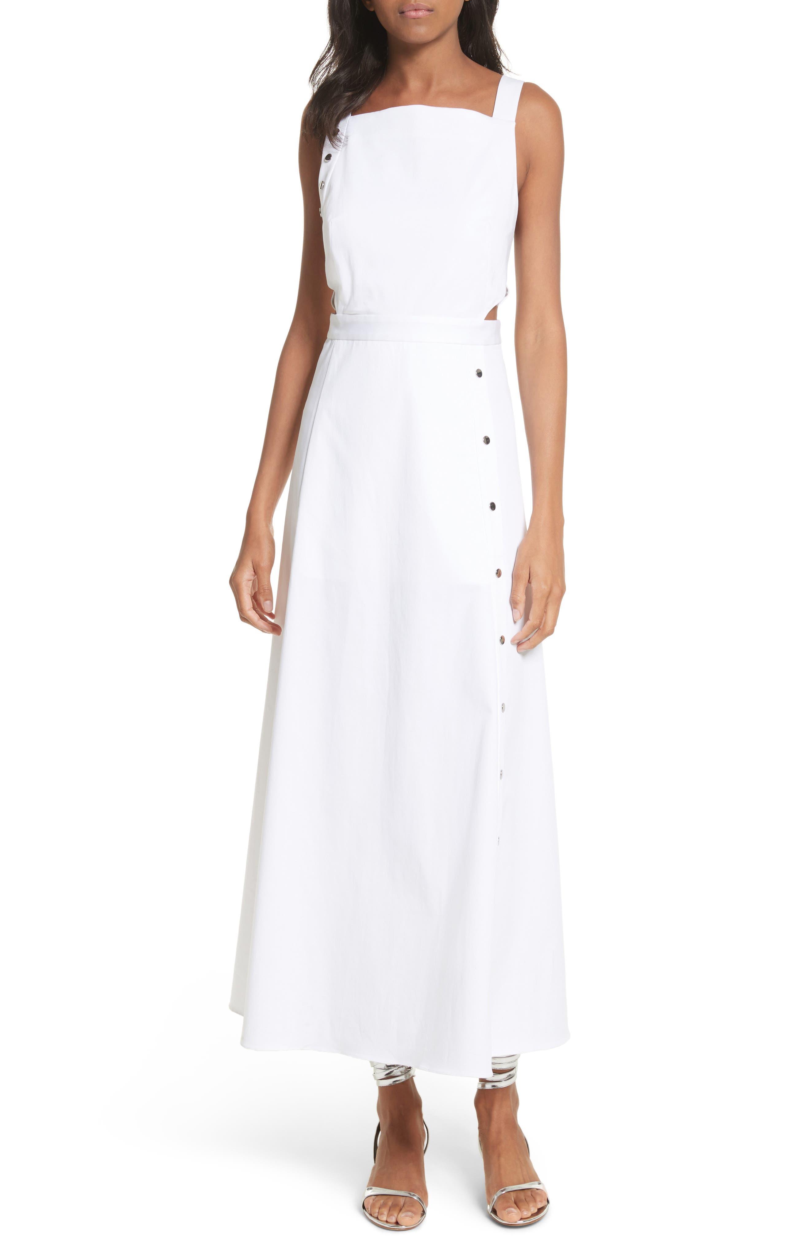 Crosby Snap Strappy Dress,                             Main thumbnail 1, color,                             White