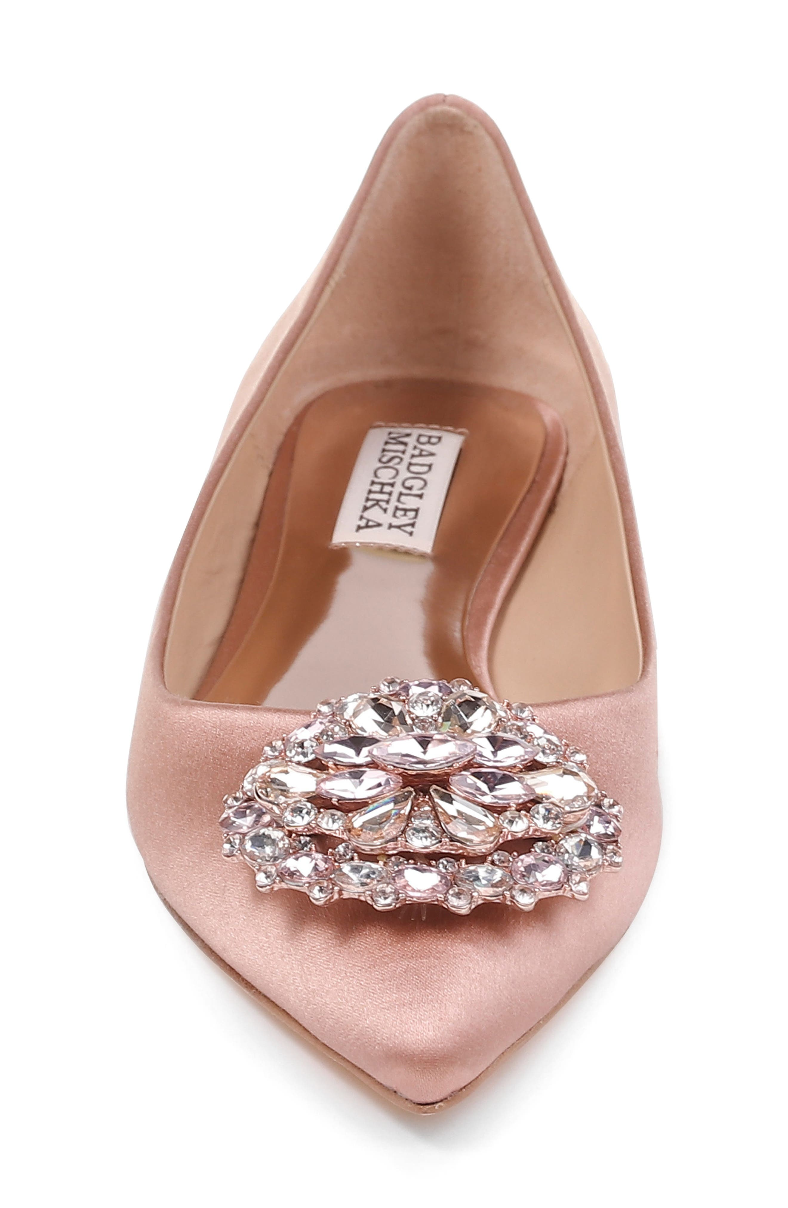 Alternate Image 4  - Badgley Mischka 'Davis' Crystal Embellished Pointy Toe Flat (Women)