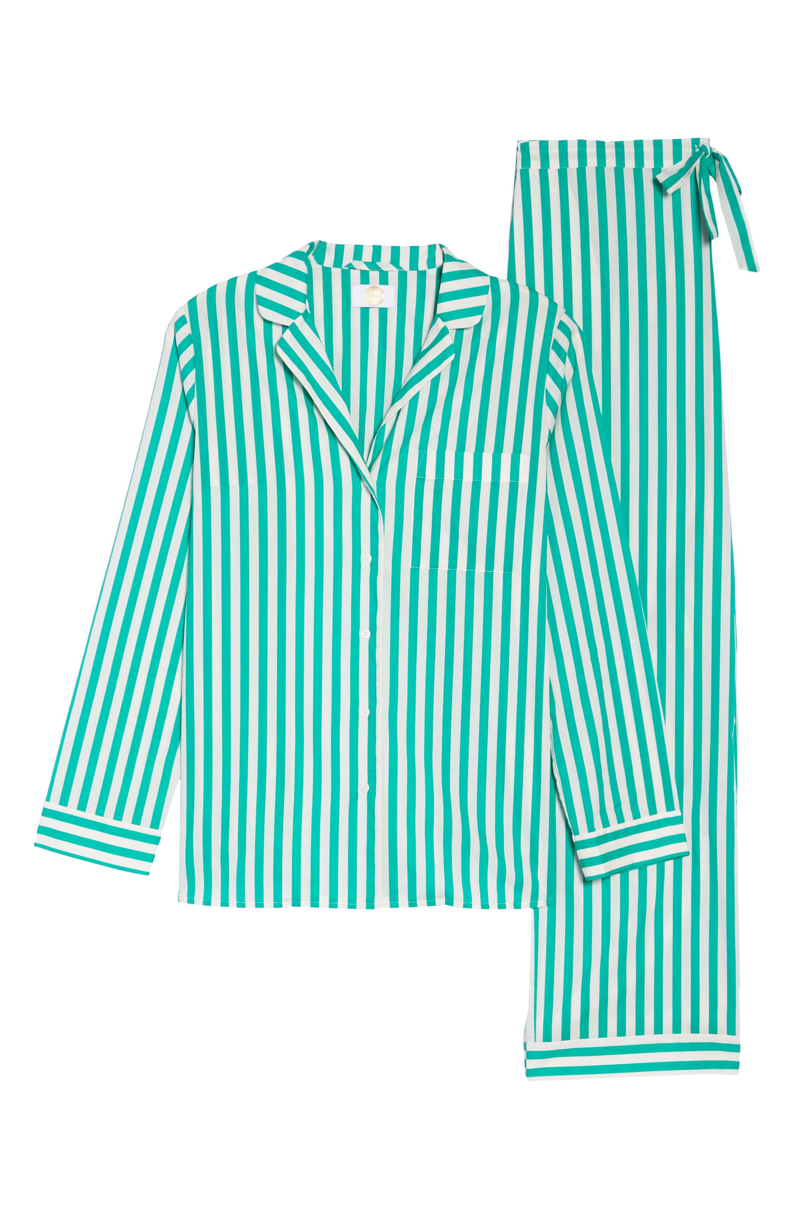 Alternate Image 4  - Yolke Classic Stripe Cotton Pajamas