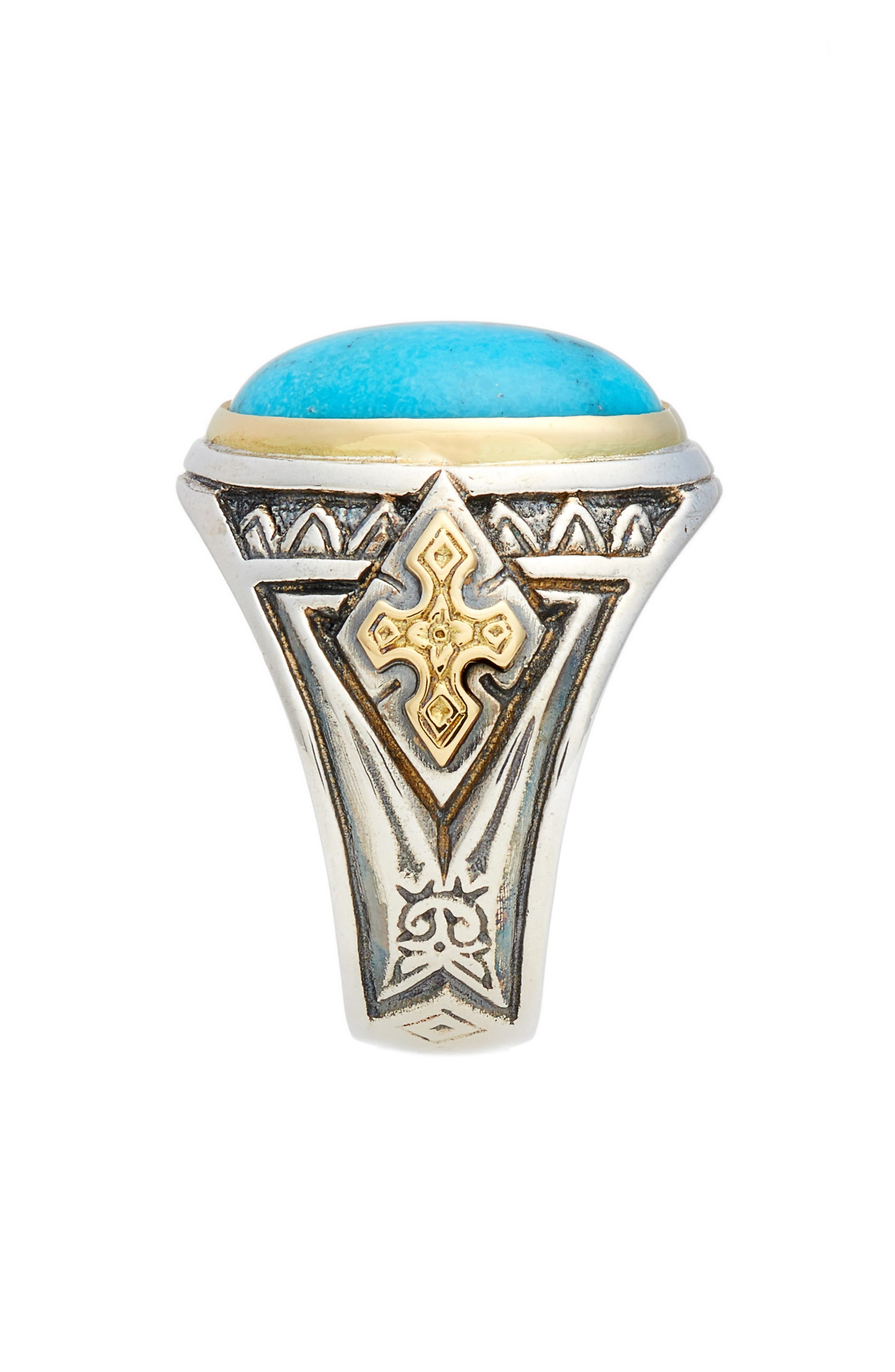 Heonos Turquoise Ring,                             Alternate thumbnail 2, color,                             Silver/ Gold/ Turquoise
