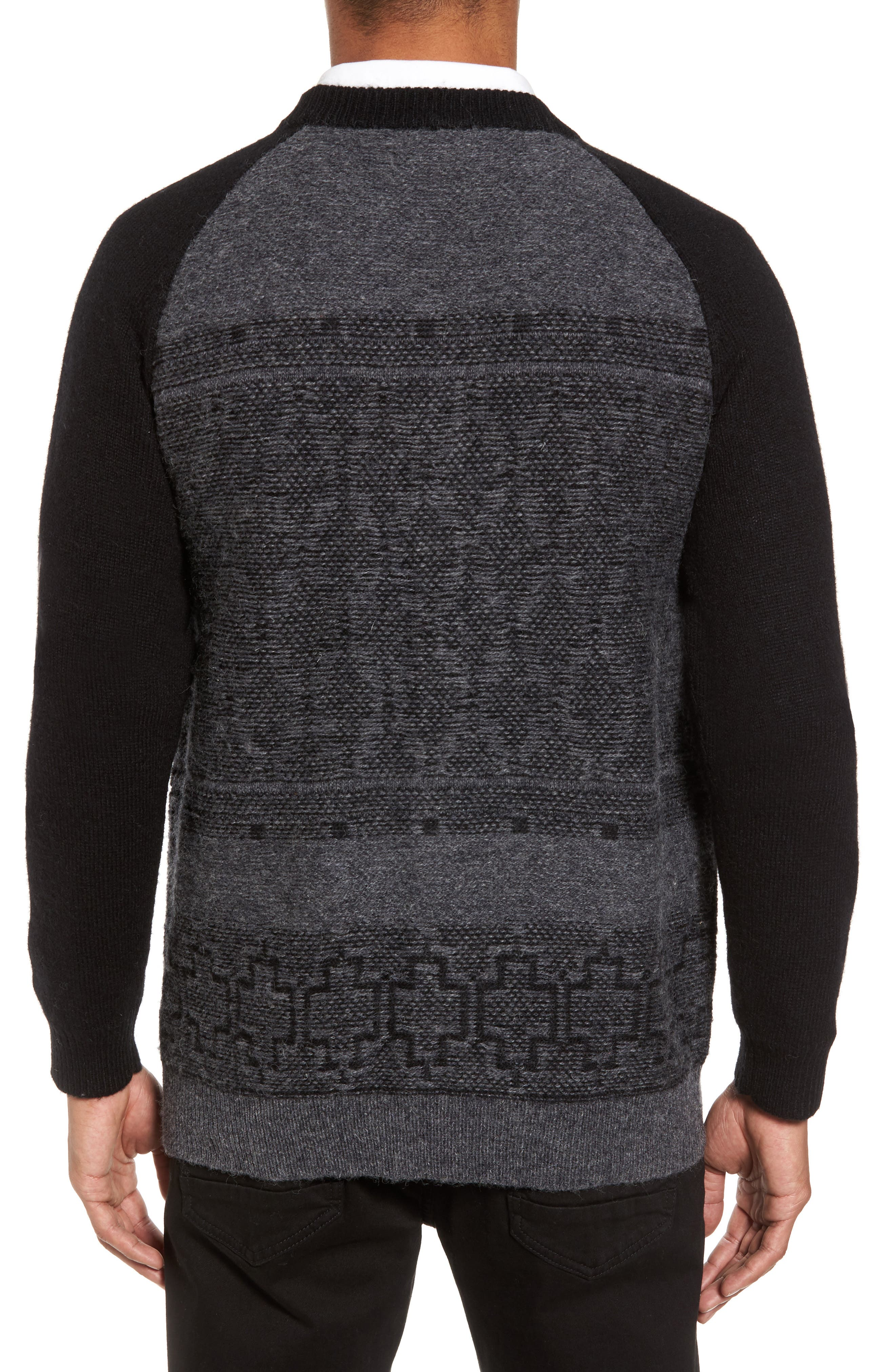 Waverly Cardigan,                             Alternate thumbnail 2, color,                             Grey/ Black