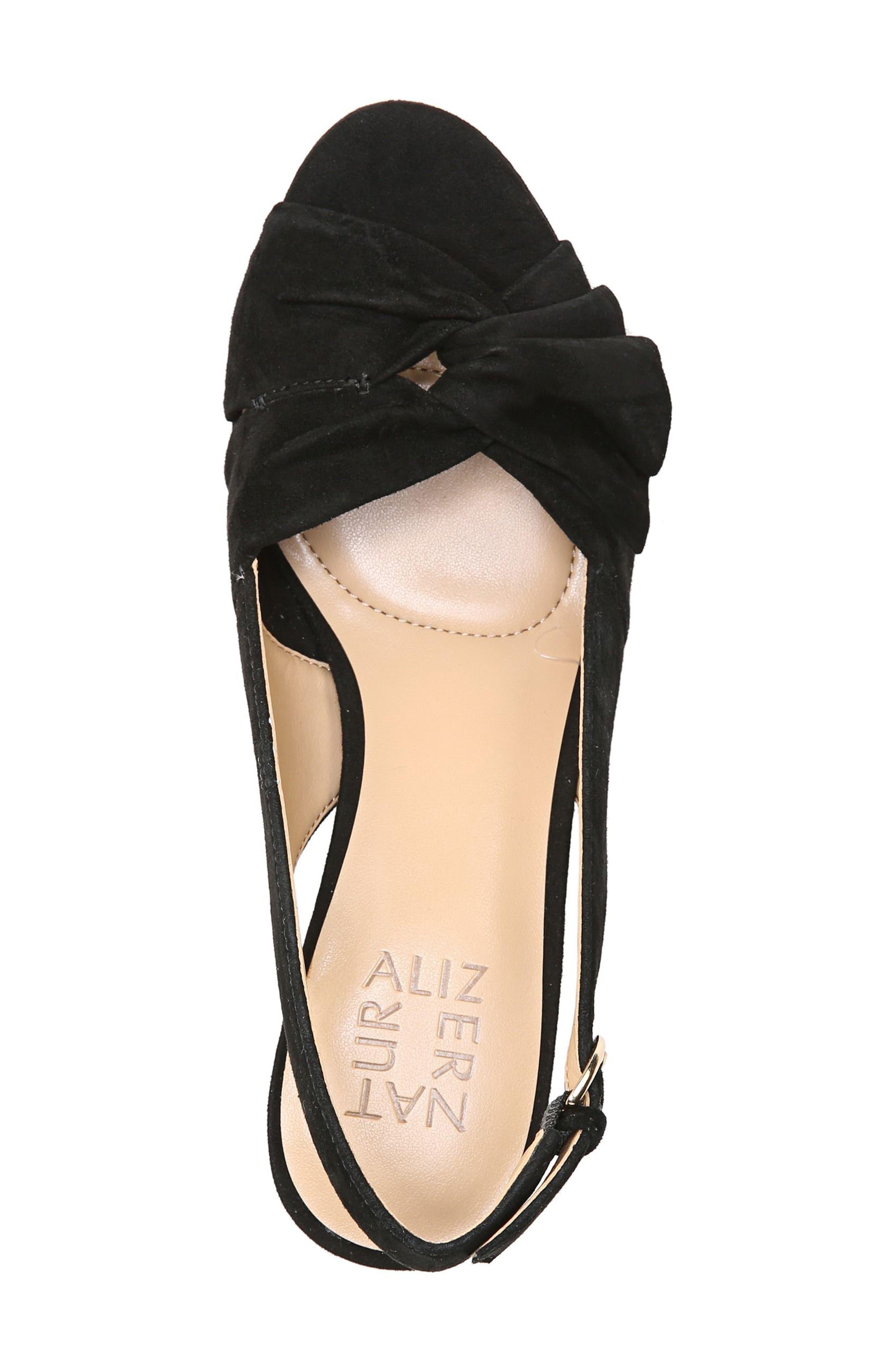 Fawn Slingback Sandal,                             Alternate thumbnail 7, color,                             Black Suede