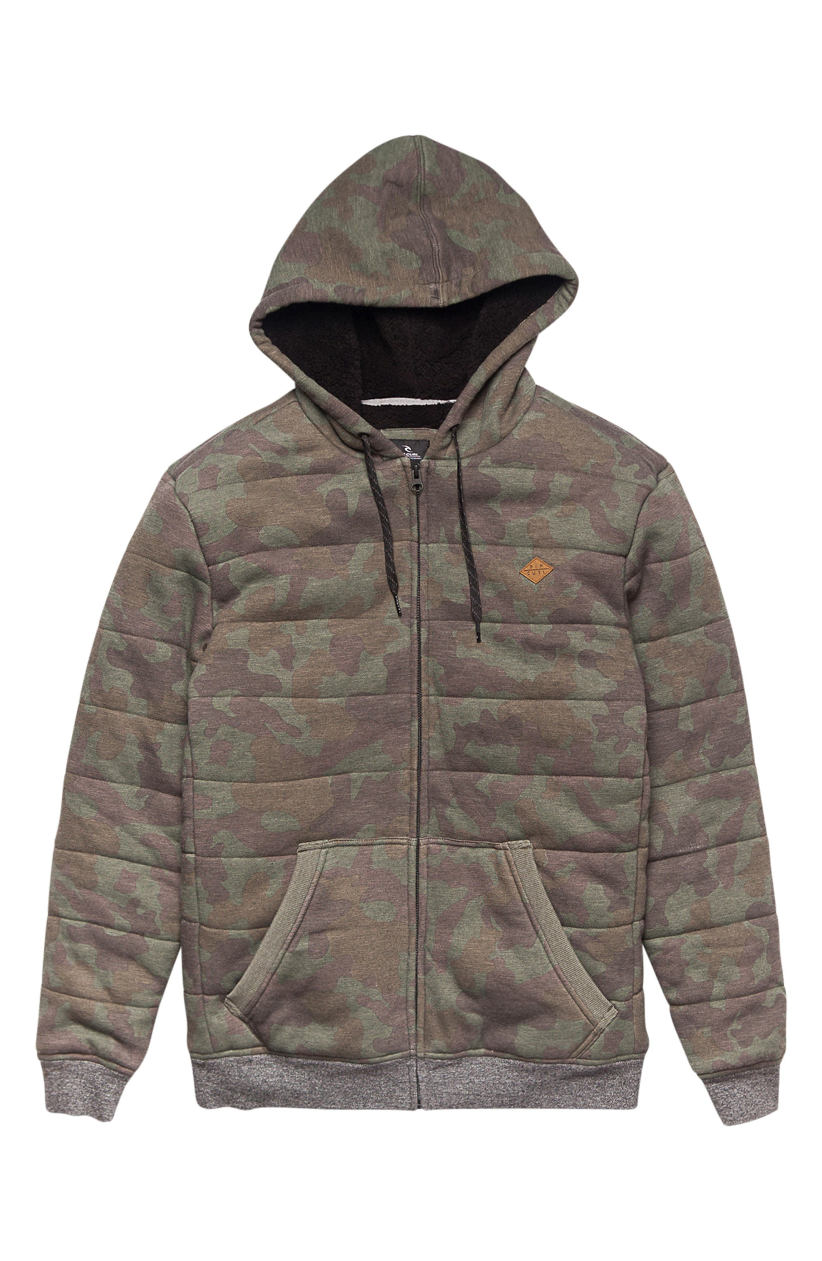 Rip Curl Destination High Pile Fleece Lined Hoodie (Big Boys)