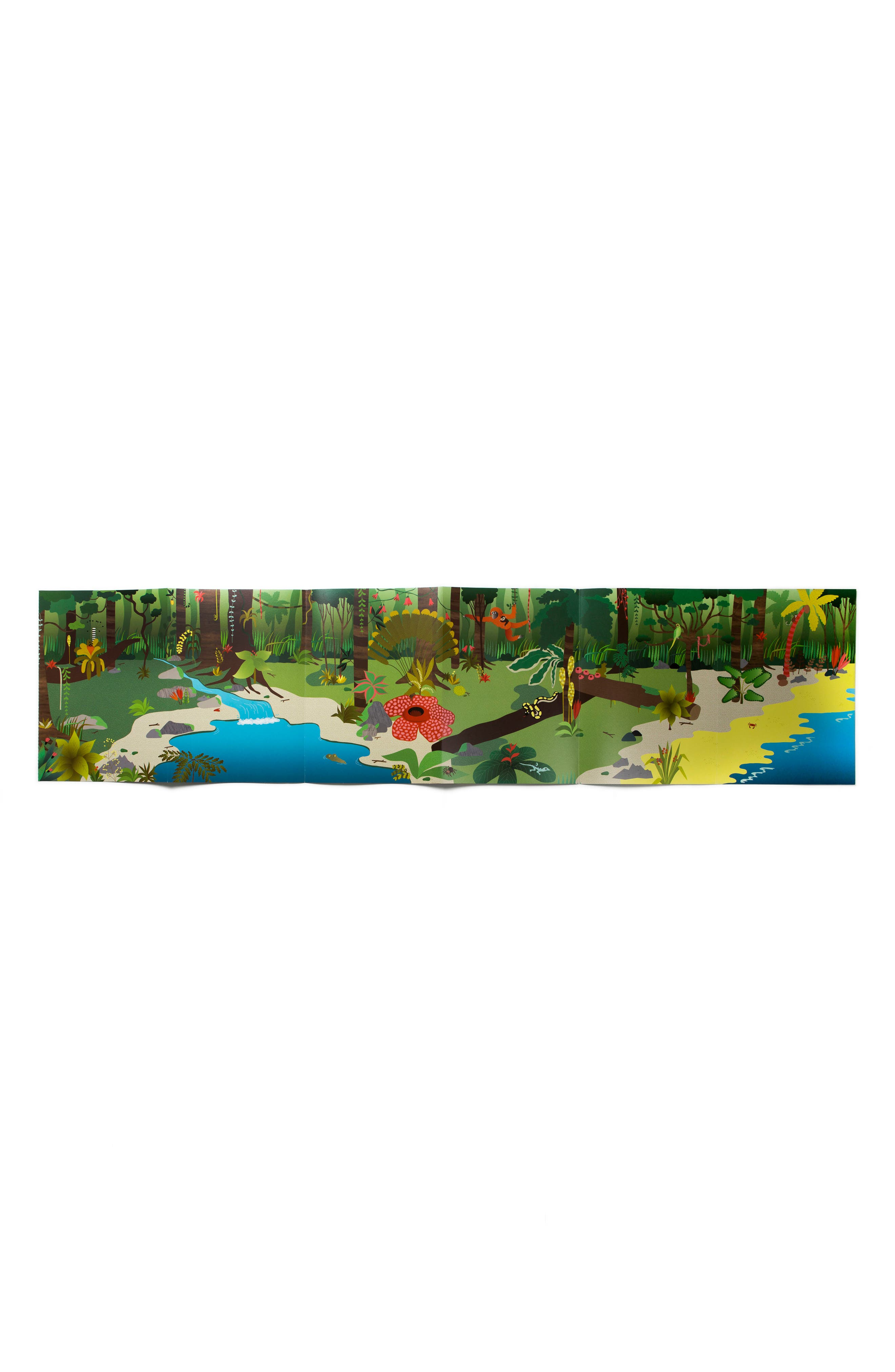 'Stickyscapes: Tropical' Adventure Activity Sticker Book,                             Alternate thumbnail 4, color,                             Green