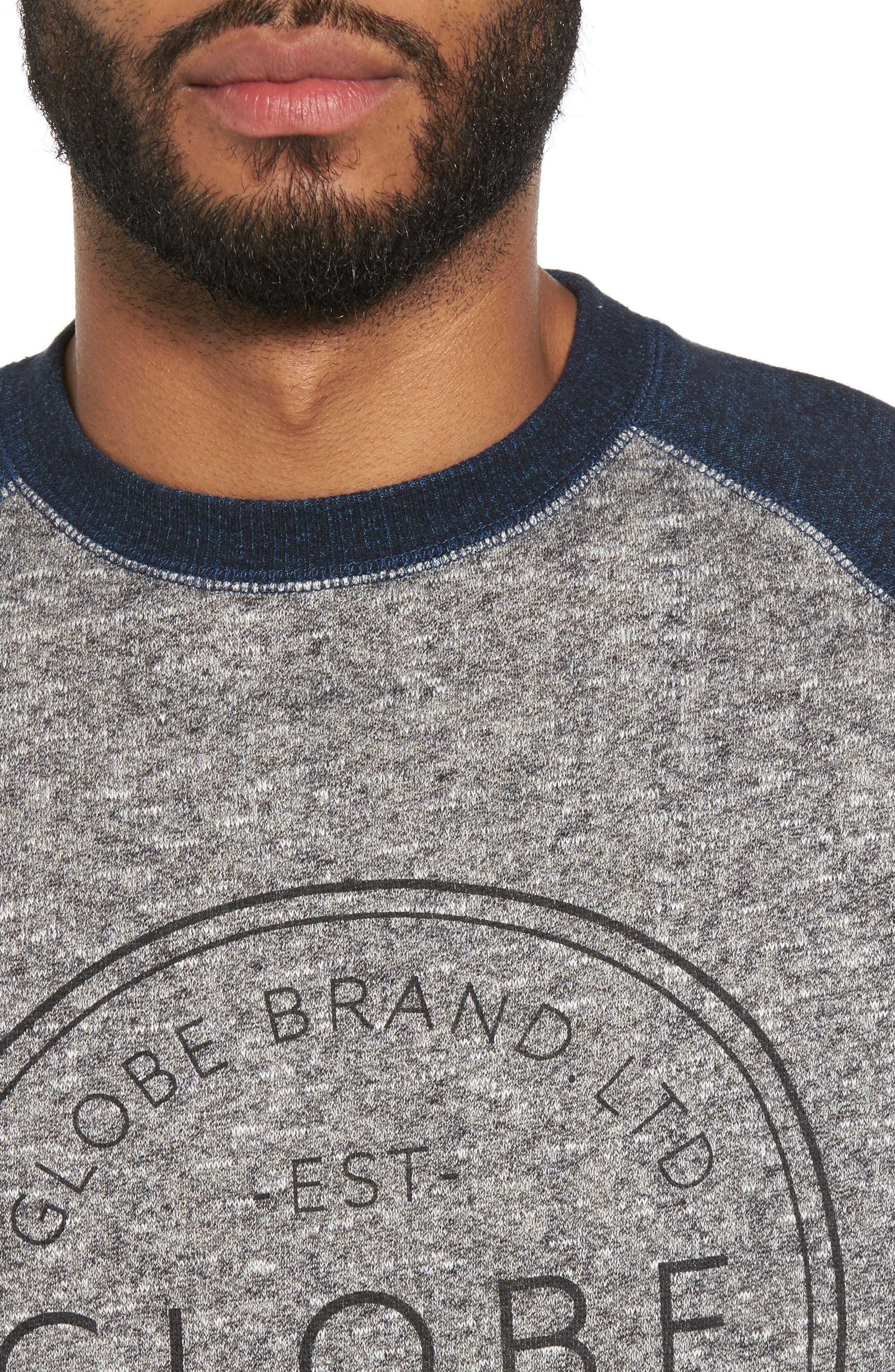 Winson Graphic Sweatshirt,                             Alternate thumbnail 4, color,                             Grey Speckle