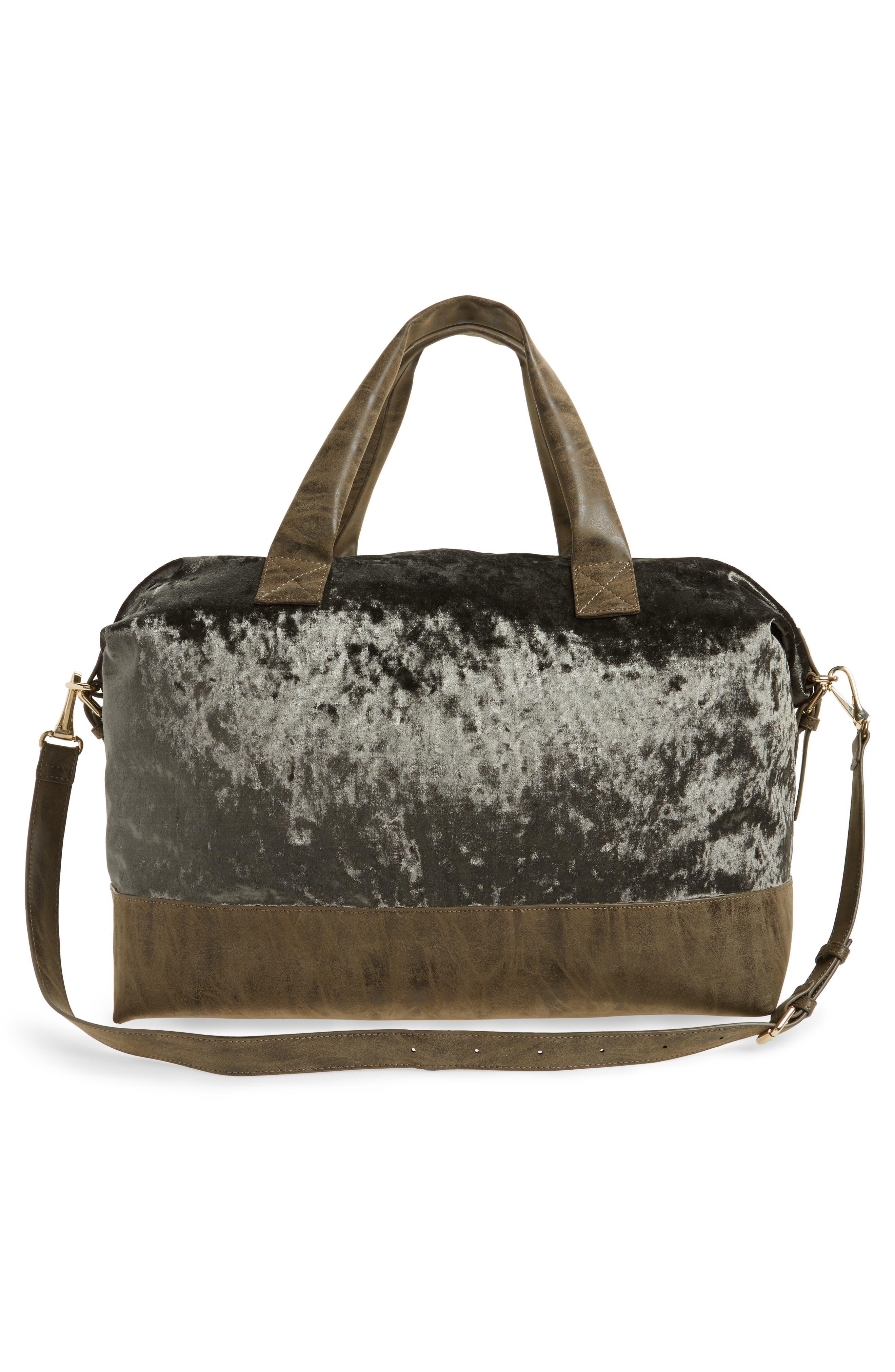 Alternate Image 3  - Sole Society Venti Velvet Duffel Bag