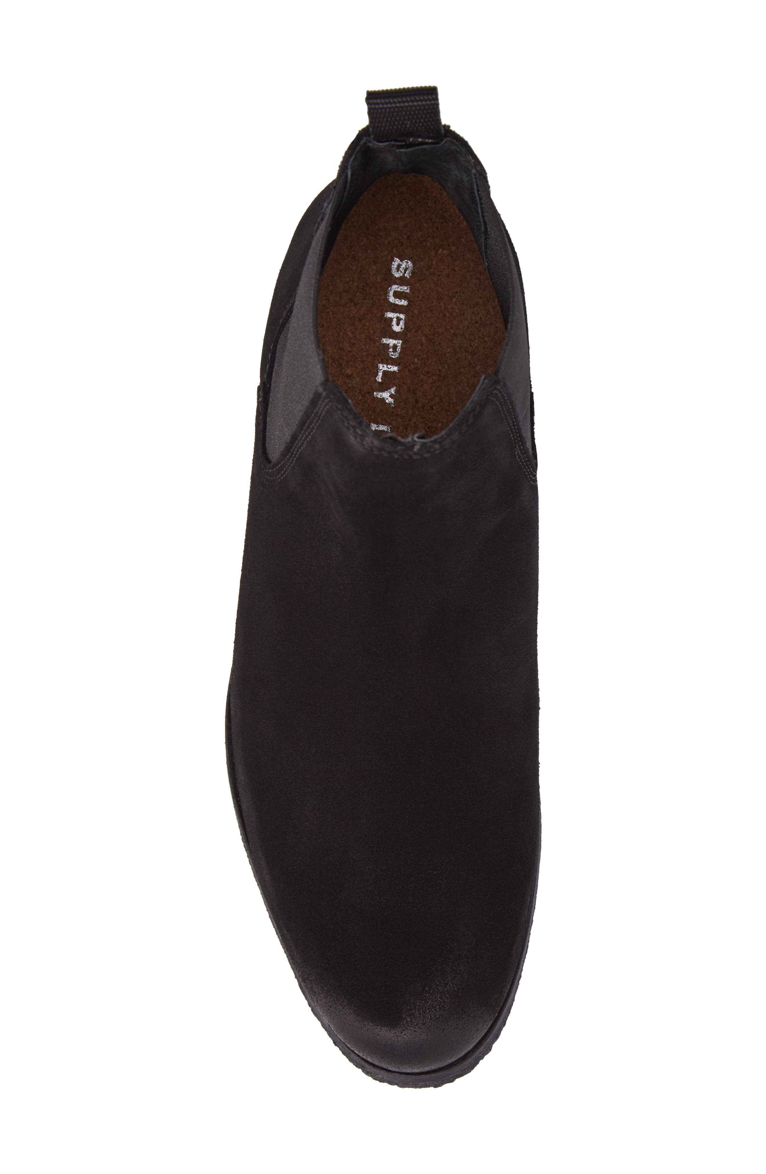Jared Chelsea Boot,                             Alternate thumbnail 5, color,                             Black Suede