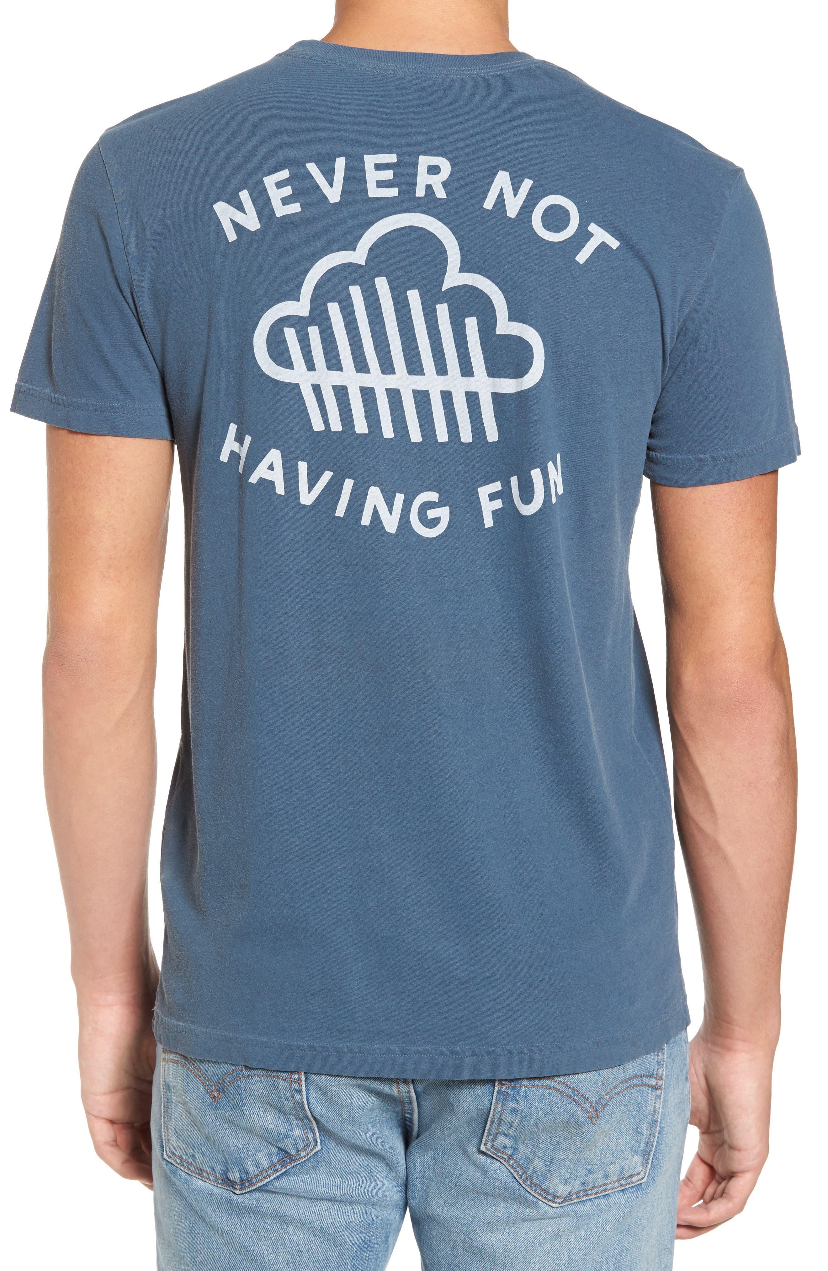 Never Not Having Fun Graphic T-Shirt,                             Alternate thumbnail 2, color,                             Dark Denim