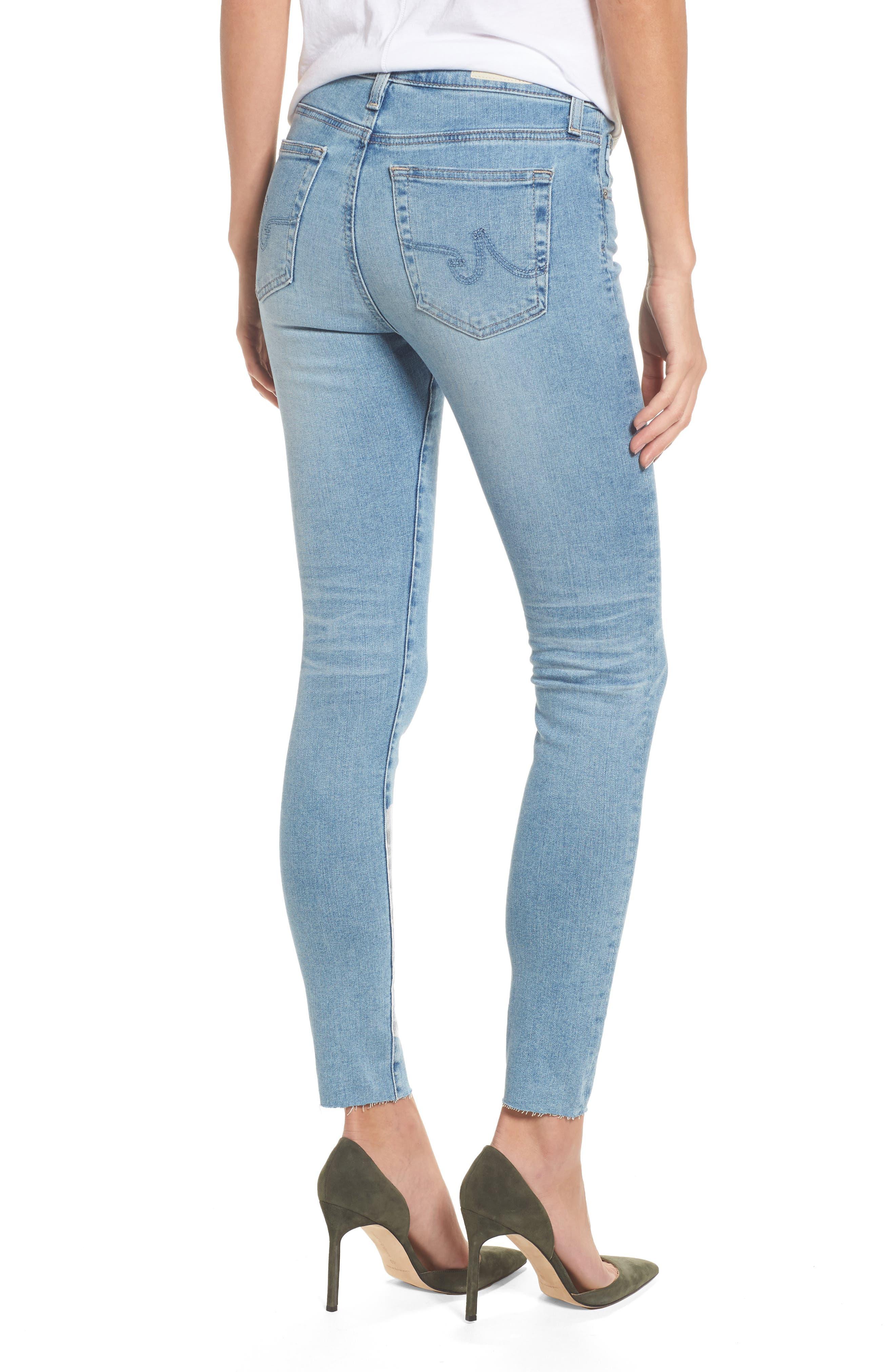 The Farrah High Waist Ankle Skinny Jeans,                             Alternate thumbnail 2, color,                             18 Years Cruising
