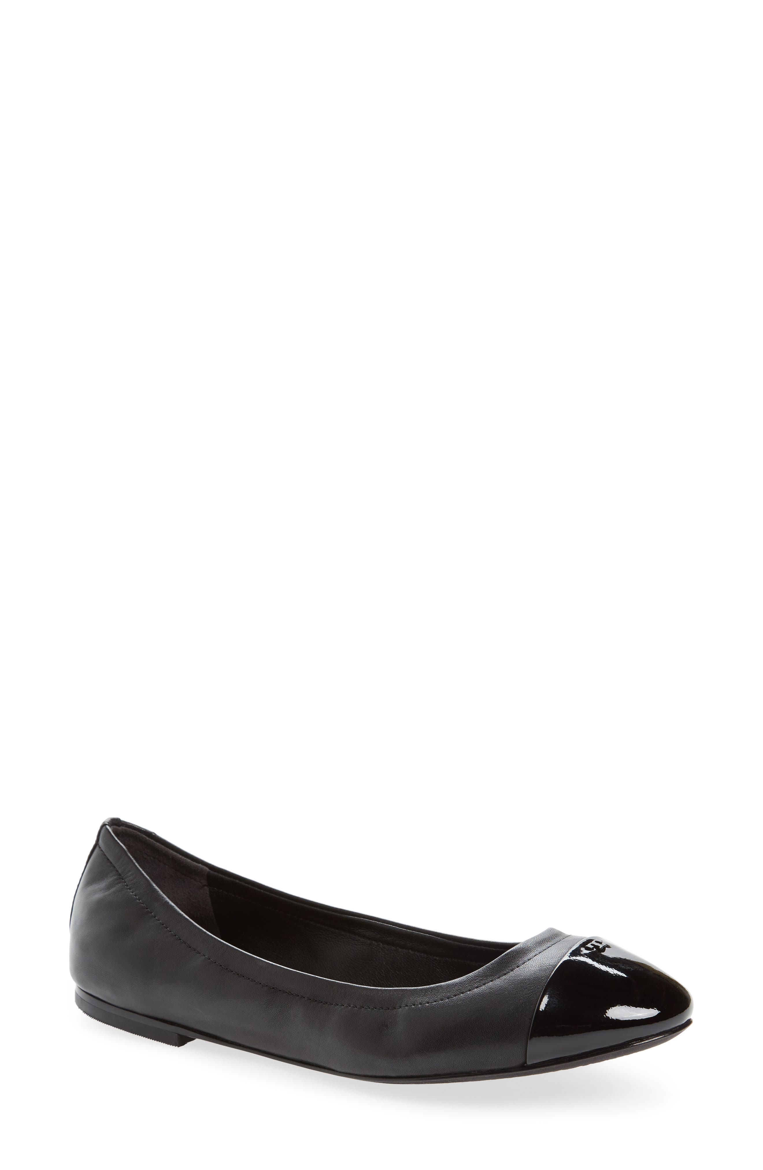 Alternate Image 1 Selected - Tory Burch Shelby Cap Toe Ballet Flat (Women)