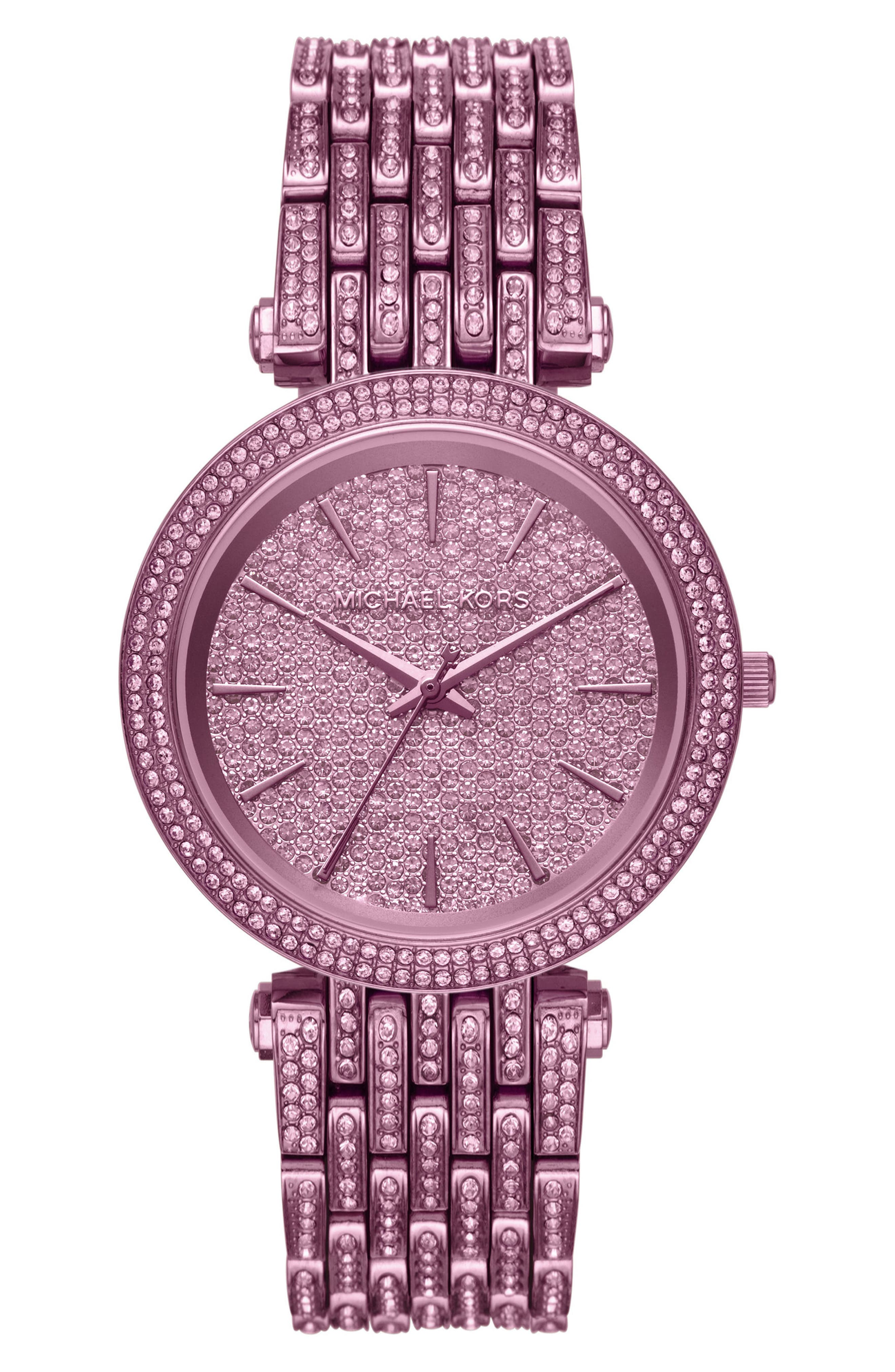 Darci Crystal Bezel Braclet Watch, 39mm,                         Main,                         color, Purple