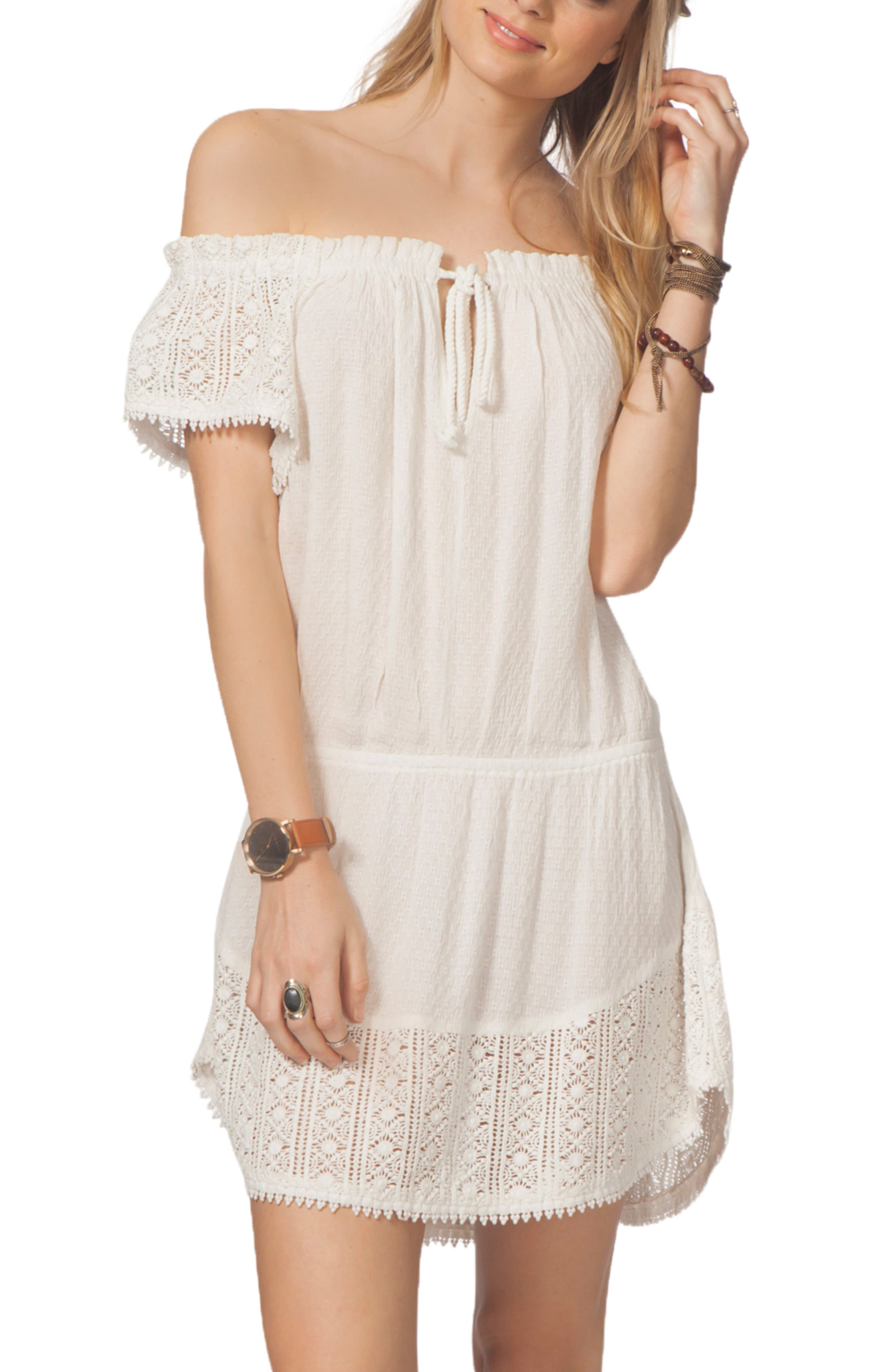 Main Image - Rip Curl Amara Off the Shoulder Cover-Up Dress