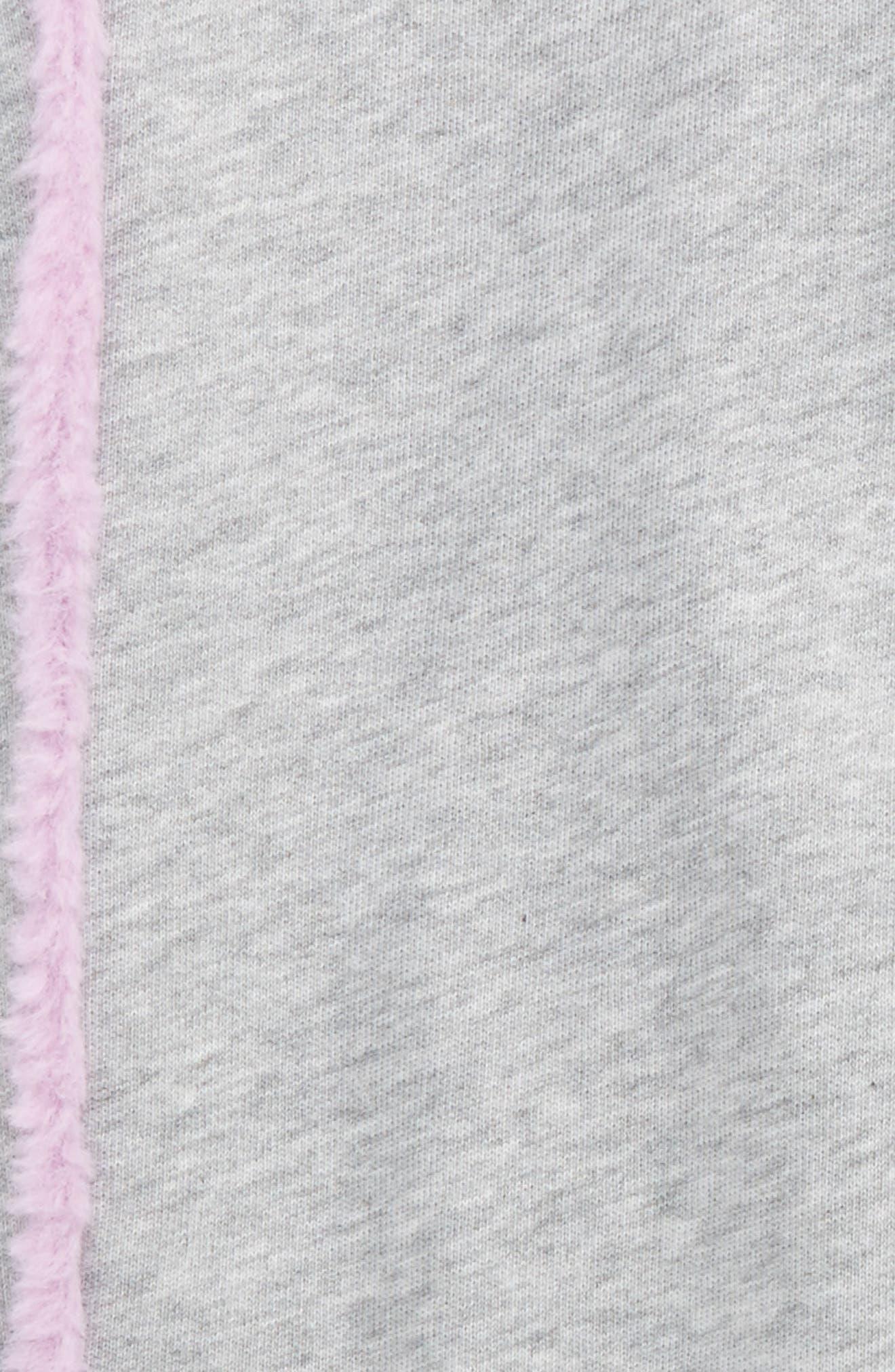 Faux Fur Trim Jogger Pants,                             Alternate thumbnail 2, color,                             Silver Lining