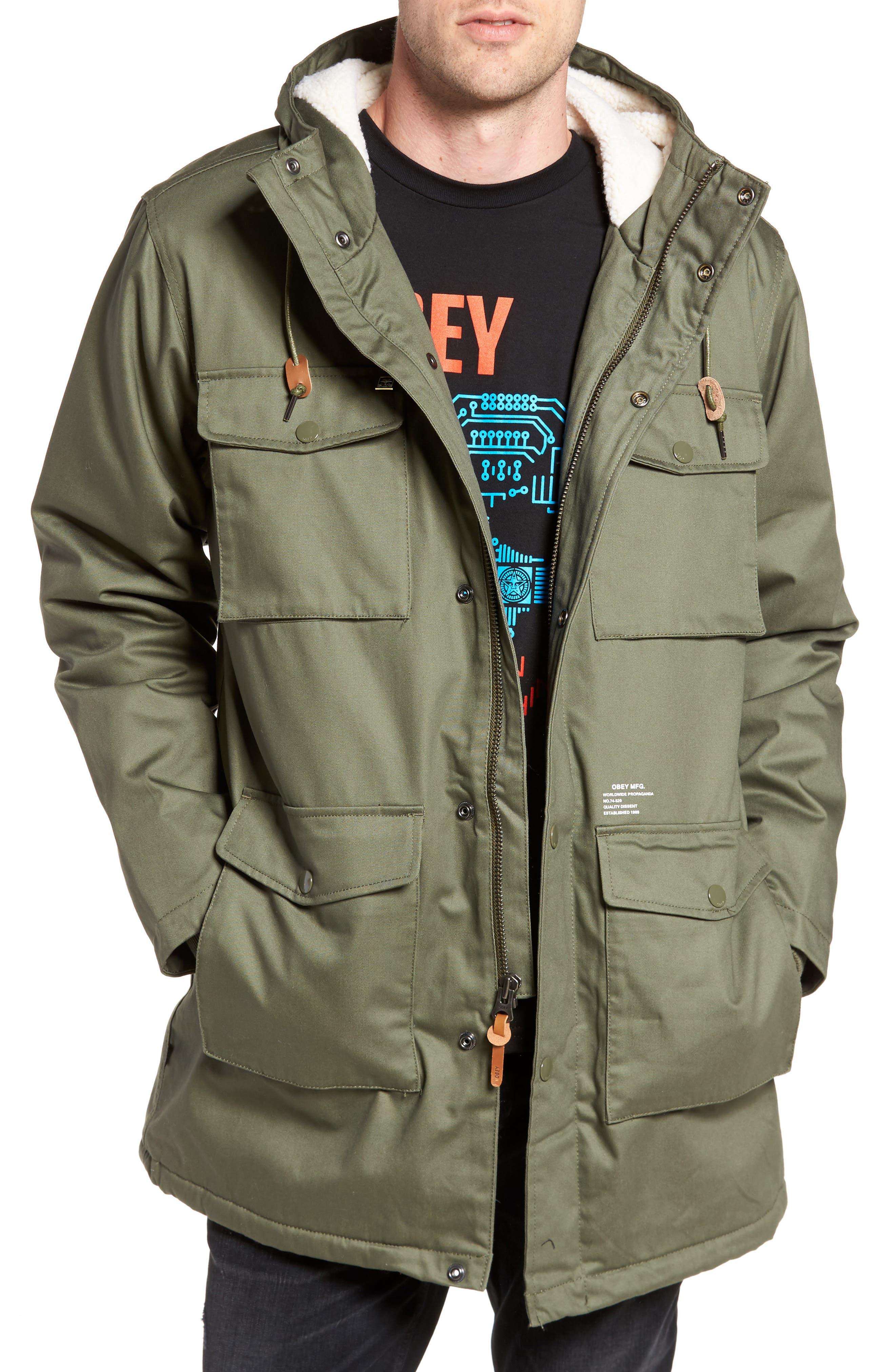 Heller II Jacket,                             Main thumbnail 1, color,                             Army