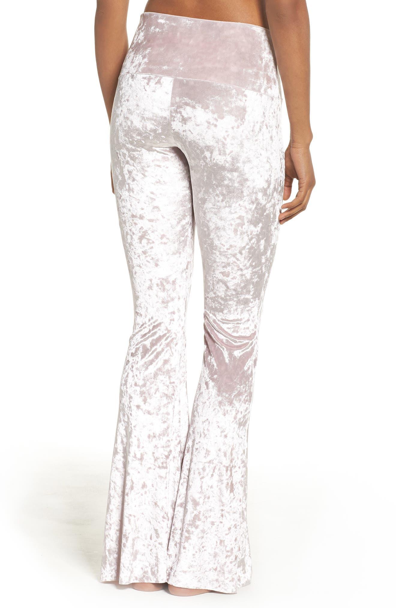 Flare Leg Yoga Pants,                             Alternate thumbnail 2, color,                             Mist Crushed Velvet