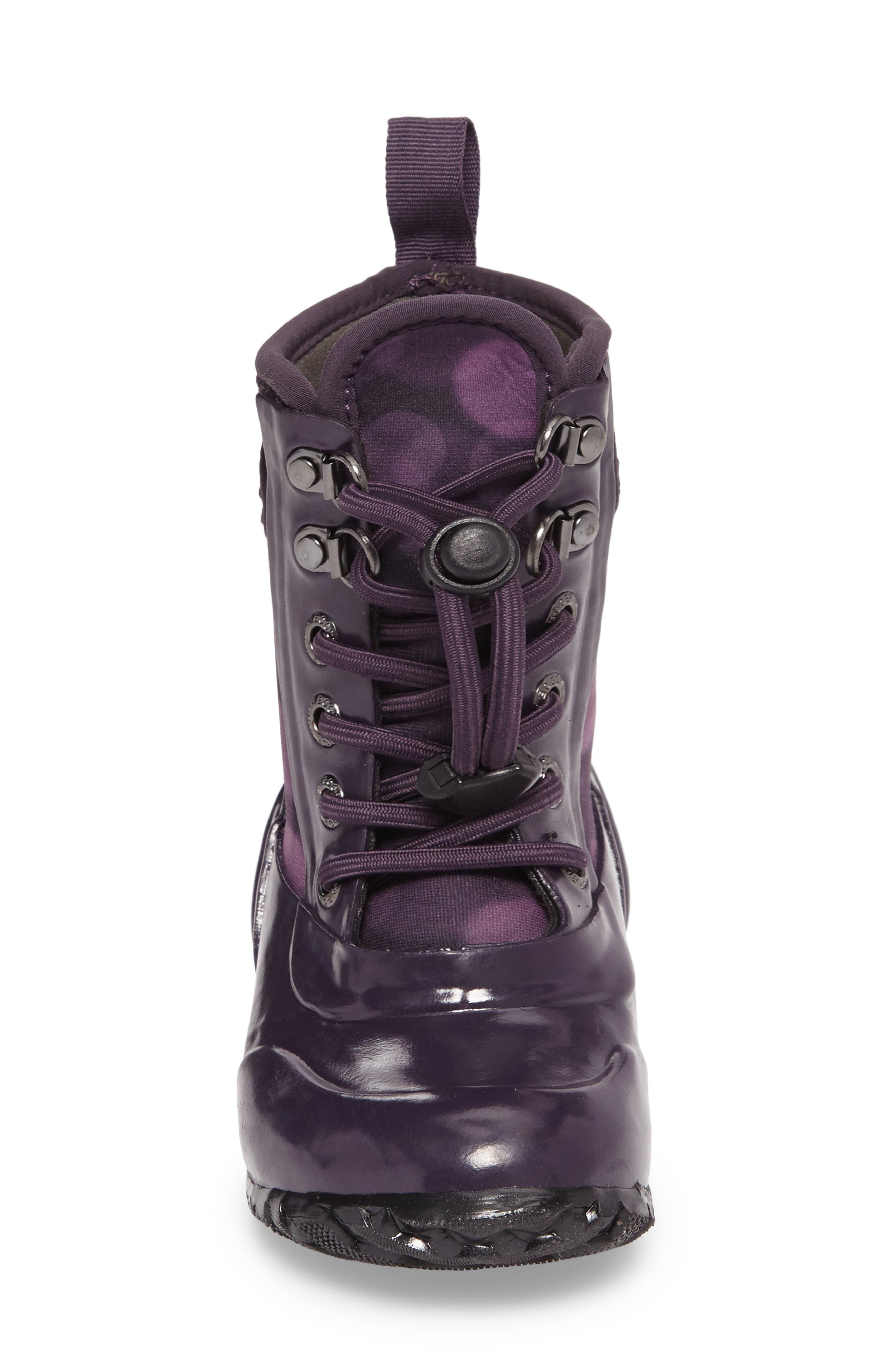 Sidney Waterproof Lace-Up Boot,                             Alternate thumbnail 4, color,                             Eggplant Multi