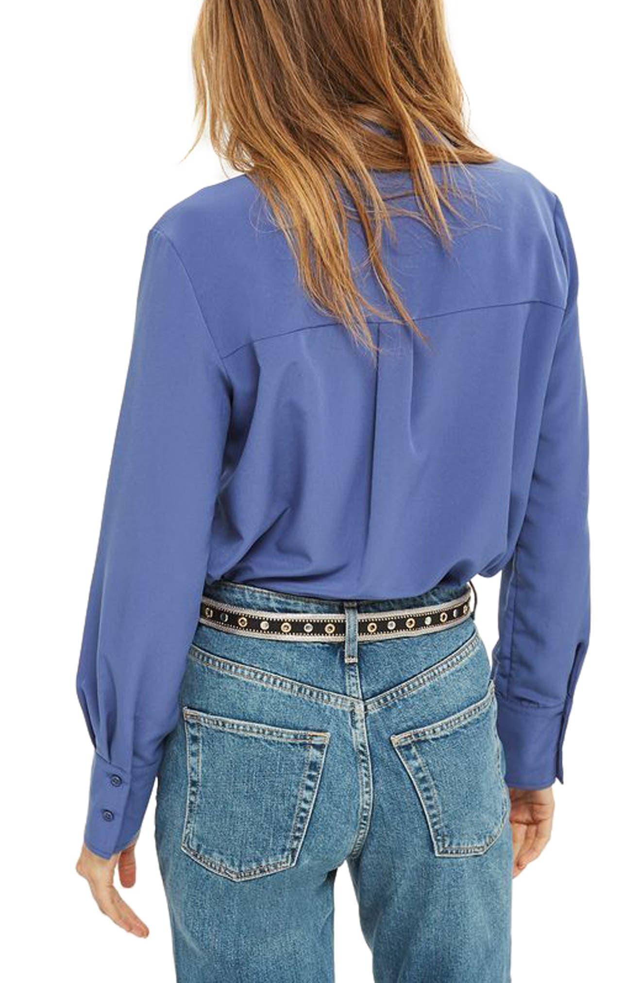 Crop Mom Jeans,                             Alternate thumbnail 3, color,                             Blue