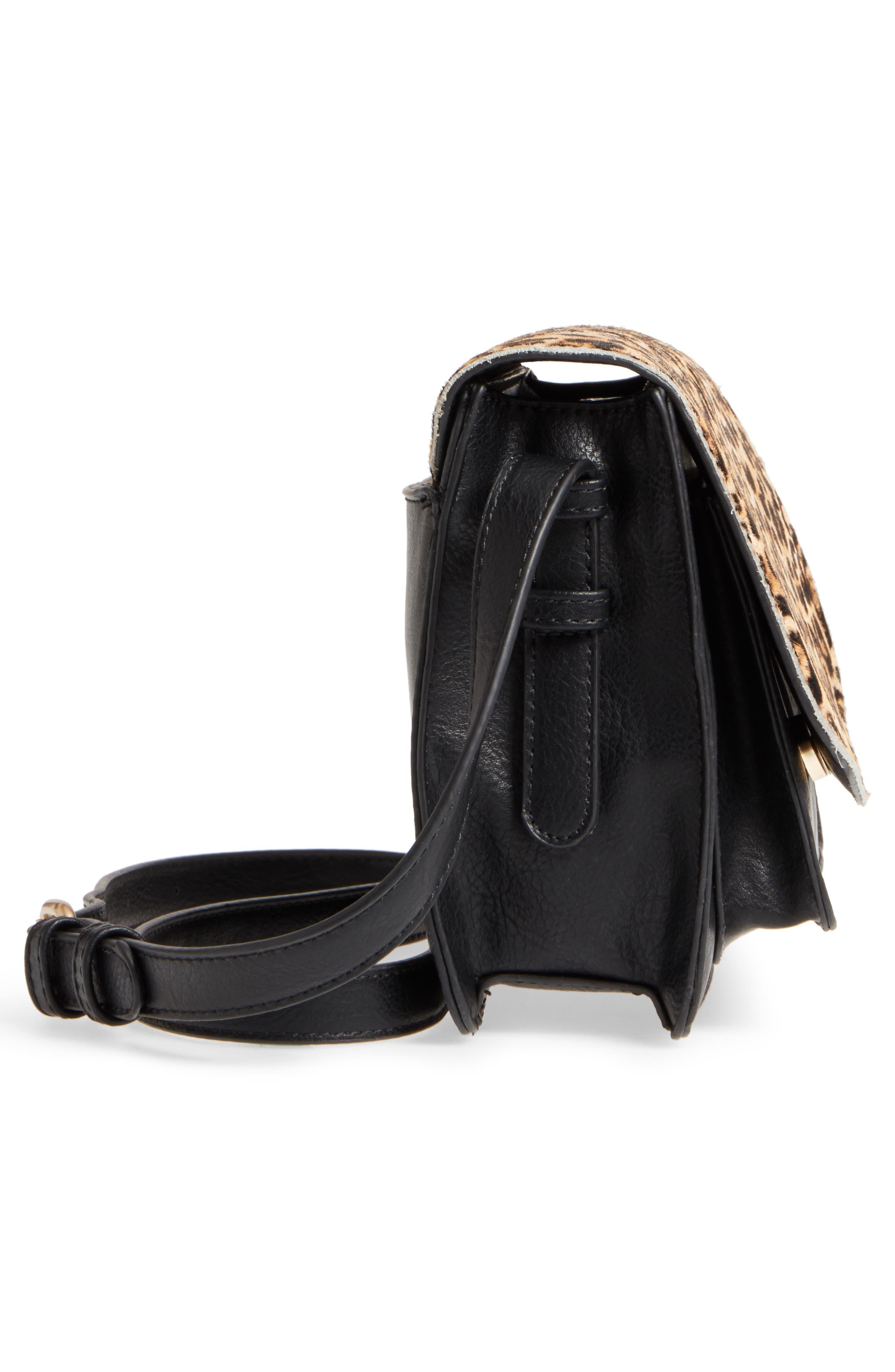 Alternate Image 5  - Sole Society Michelle Genuine Calf Hair Flap Crossbody Bag