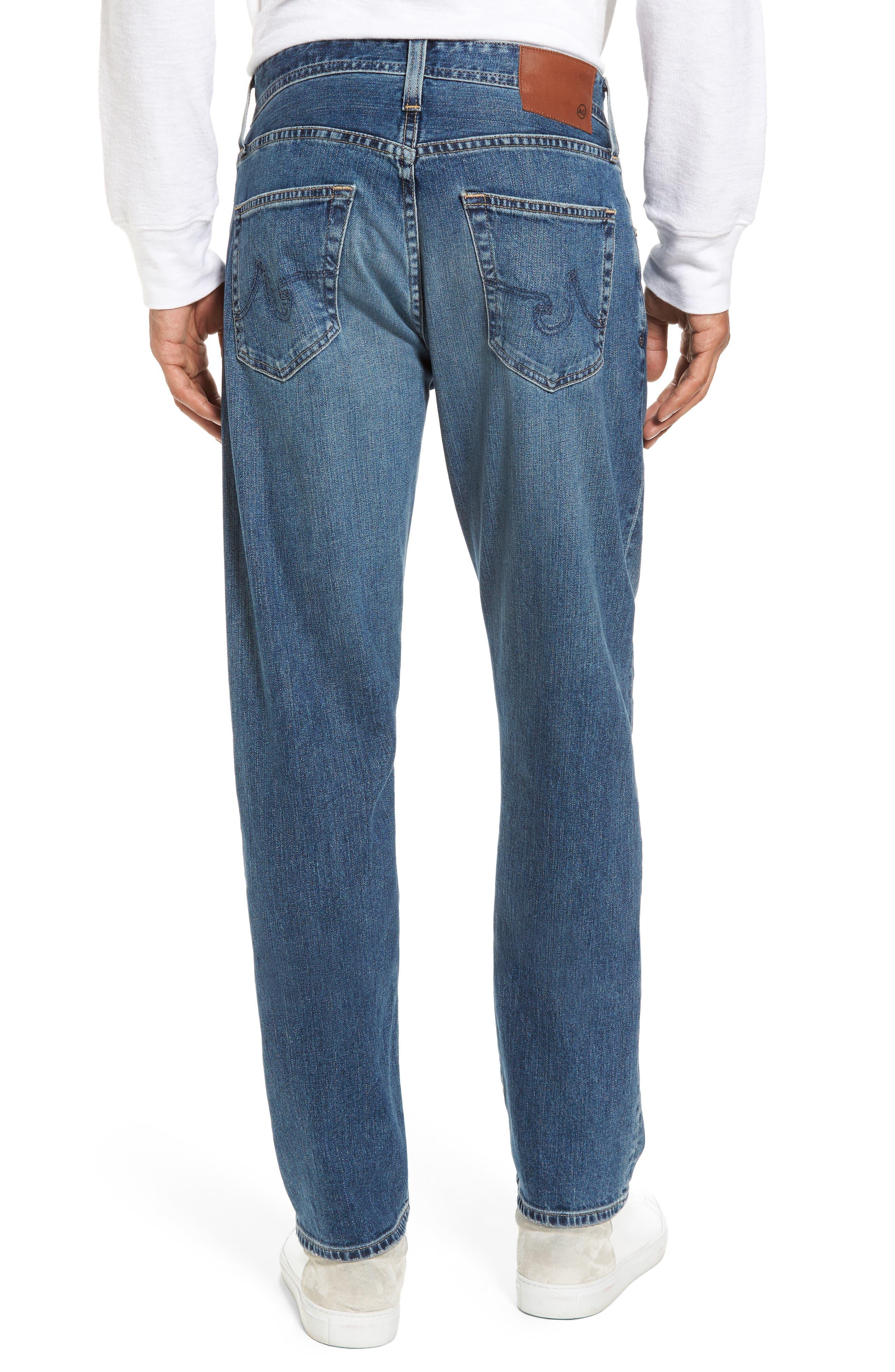 Alternate Image 2  - AG Ives Straight Fit Jeans (Grasslands)