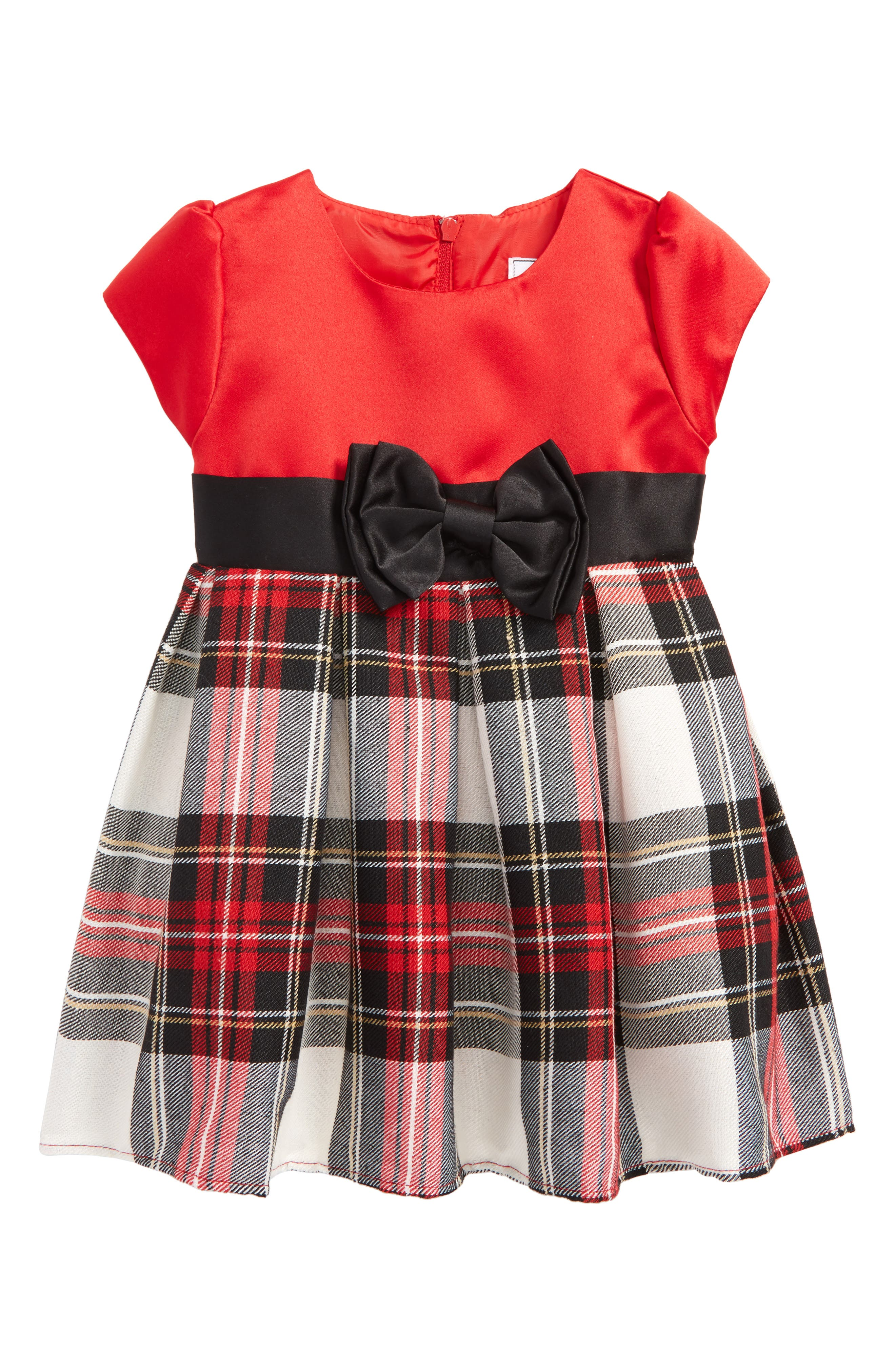 Dorissa Angie Satin Tartan Dress (Baby Girls)