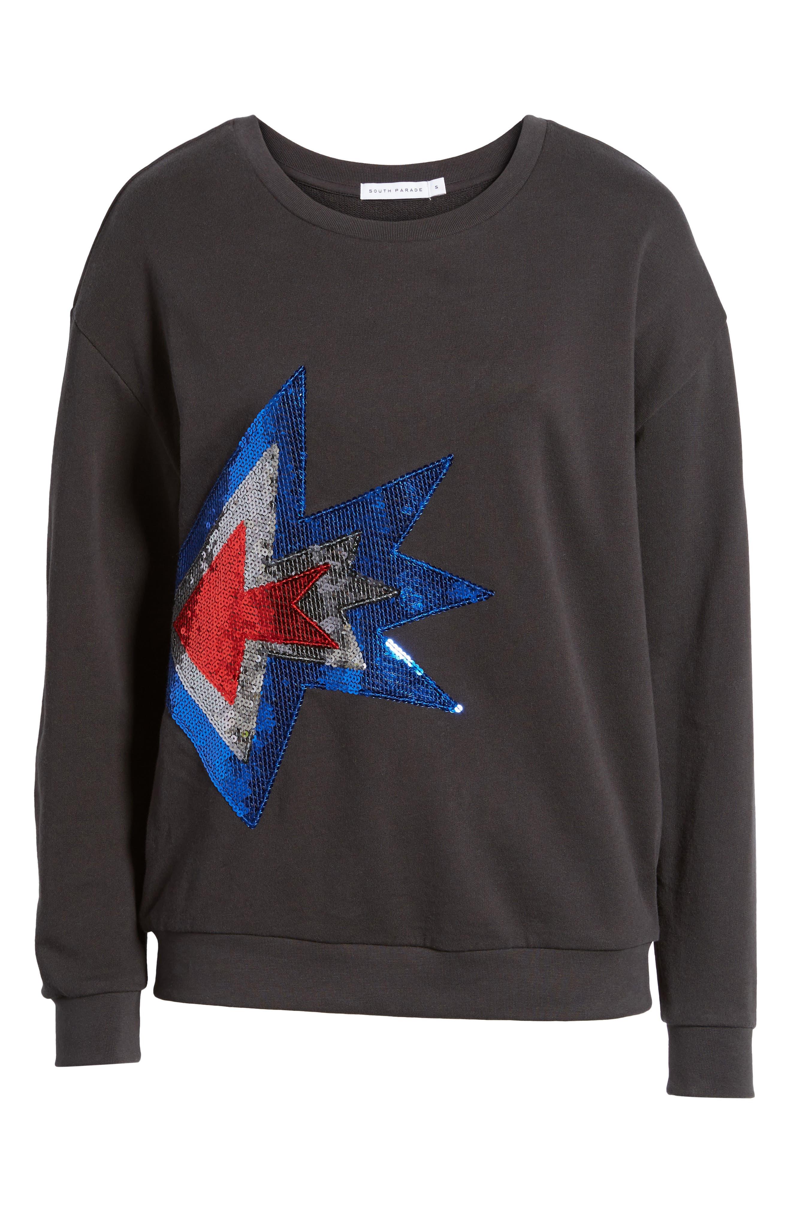 Alexa - Splash Sweatshirt,                             Alternate thumbnail 6, color,                             Black