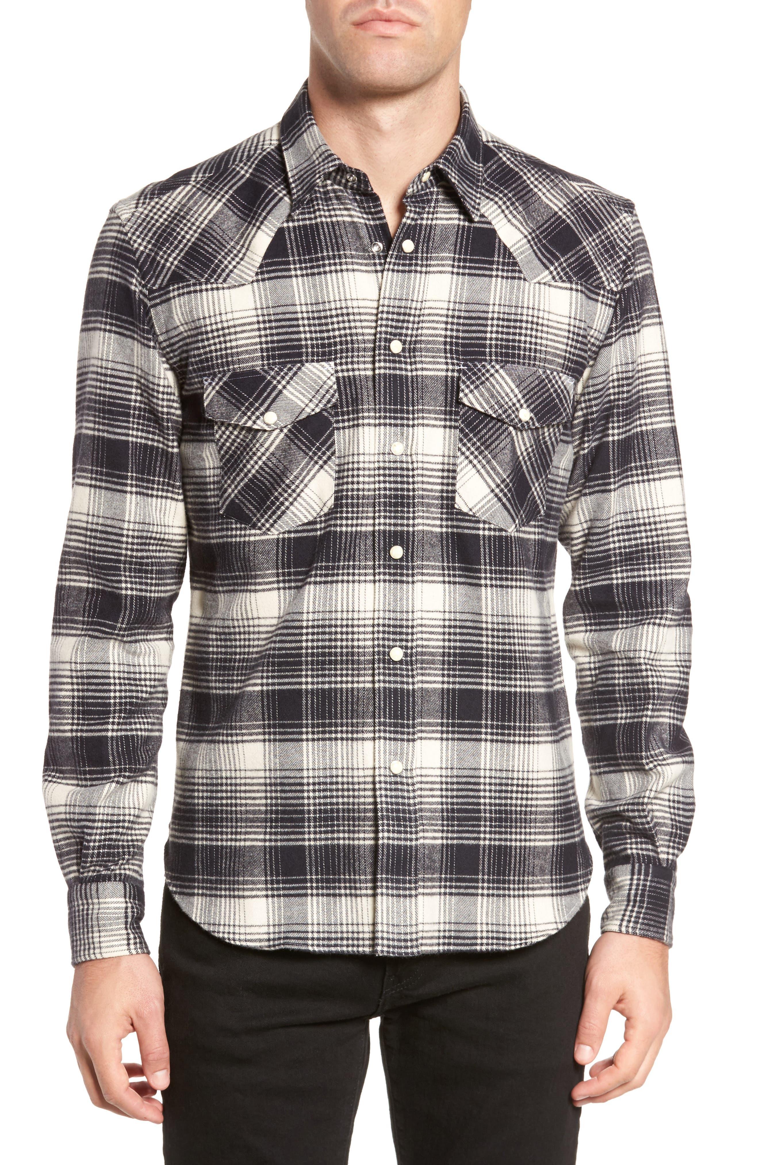 Western Sport Shirt,                         Main,                         color, Black