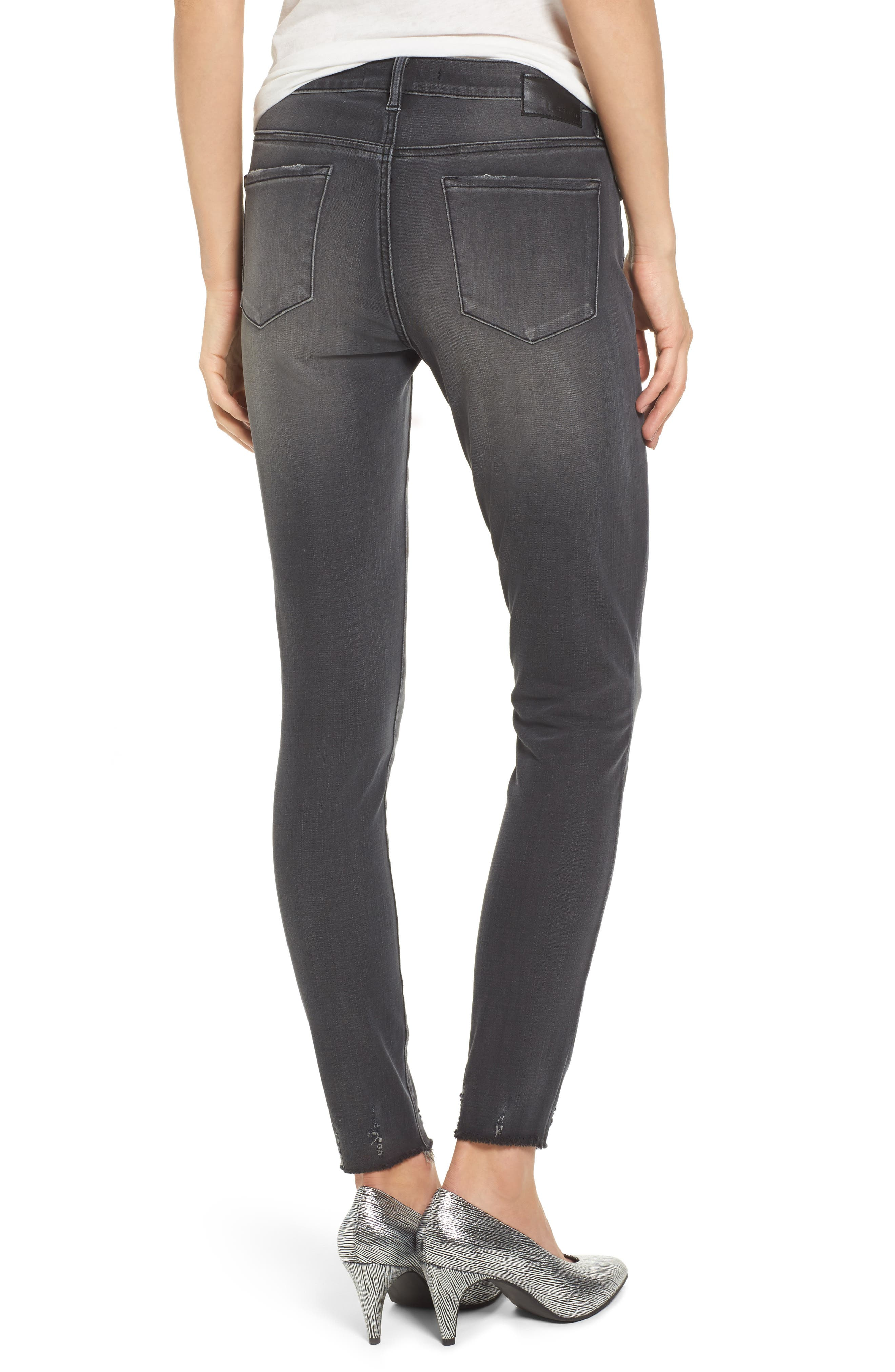 Alternate Image 2  - Leith Frayed Hem Skinny Jeans