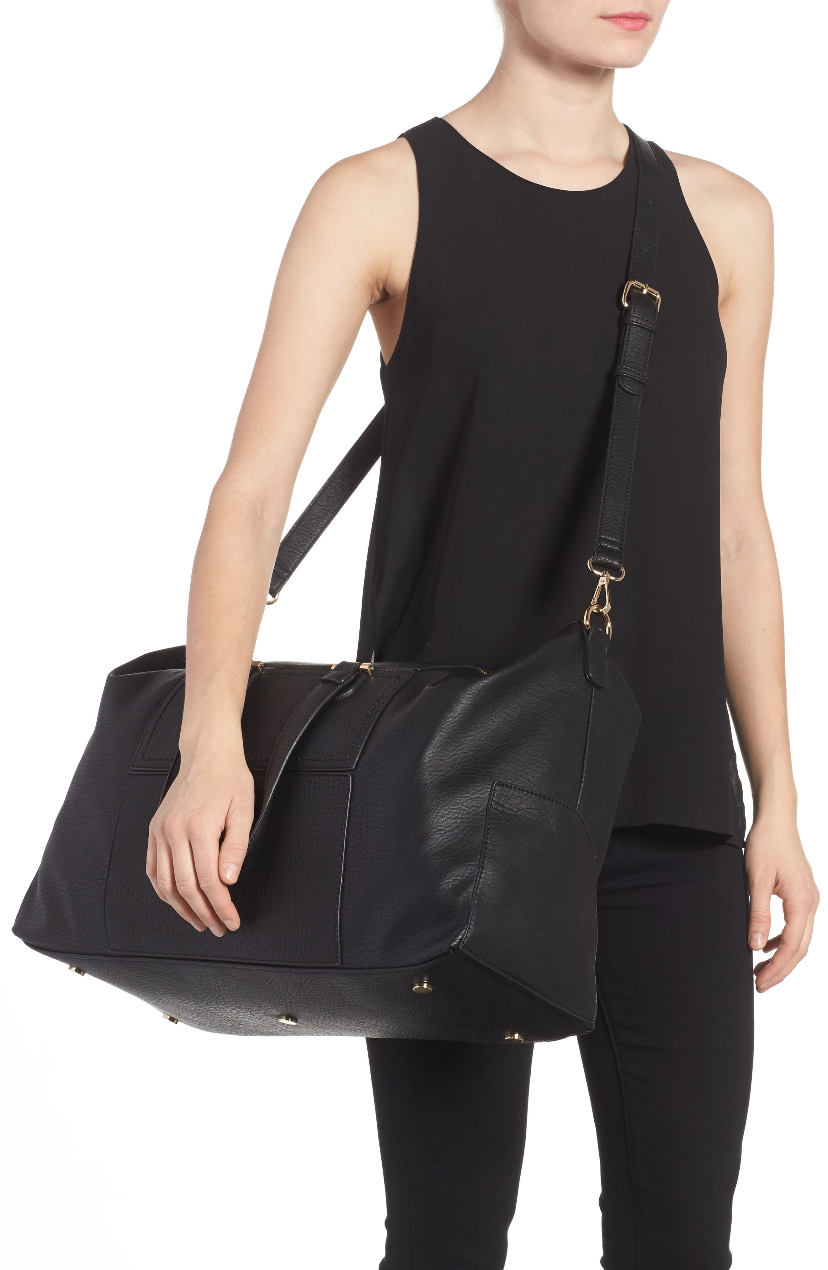 Alternate Image 2  - Sole Society Cory Faux Leather Travel Tote
